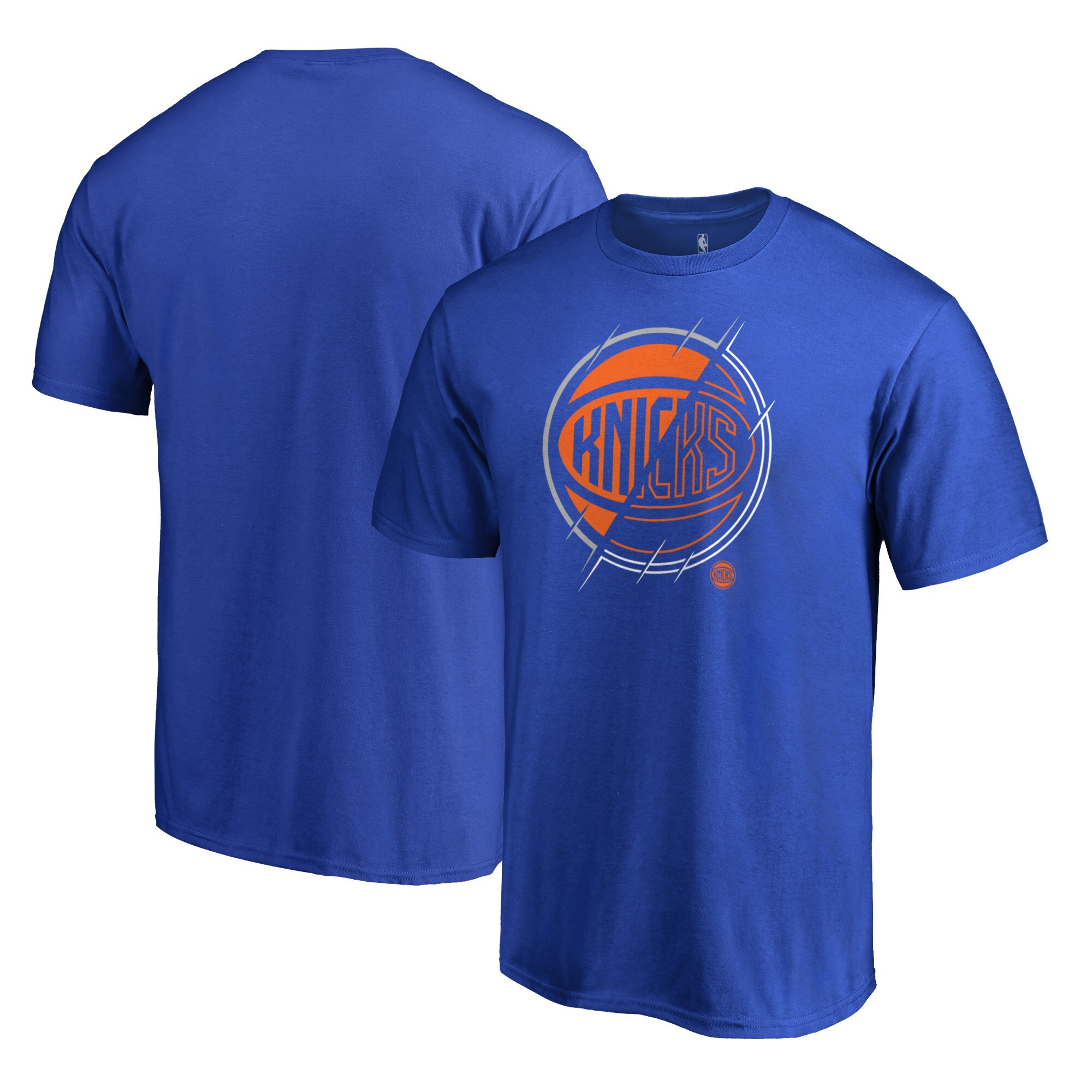 New York Knicks Fanatics Branded X-Ray Big and Tall T-Shirt - Blue