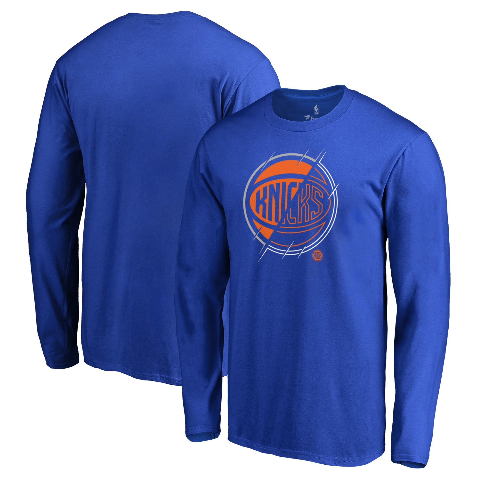 New York Knicks Fanatics Branded X-Ray Long Sleeve T-Shirt - Royal