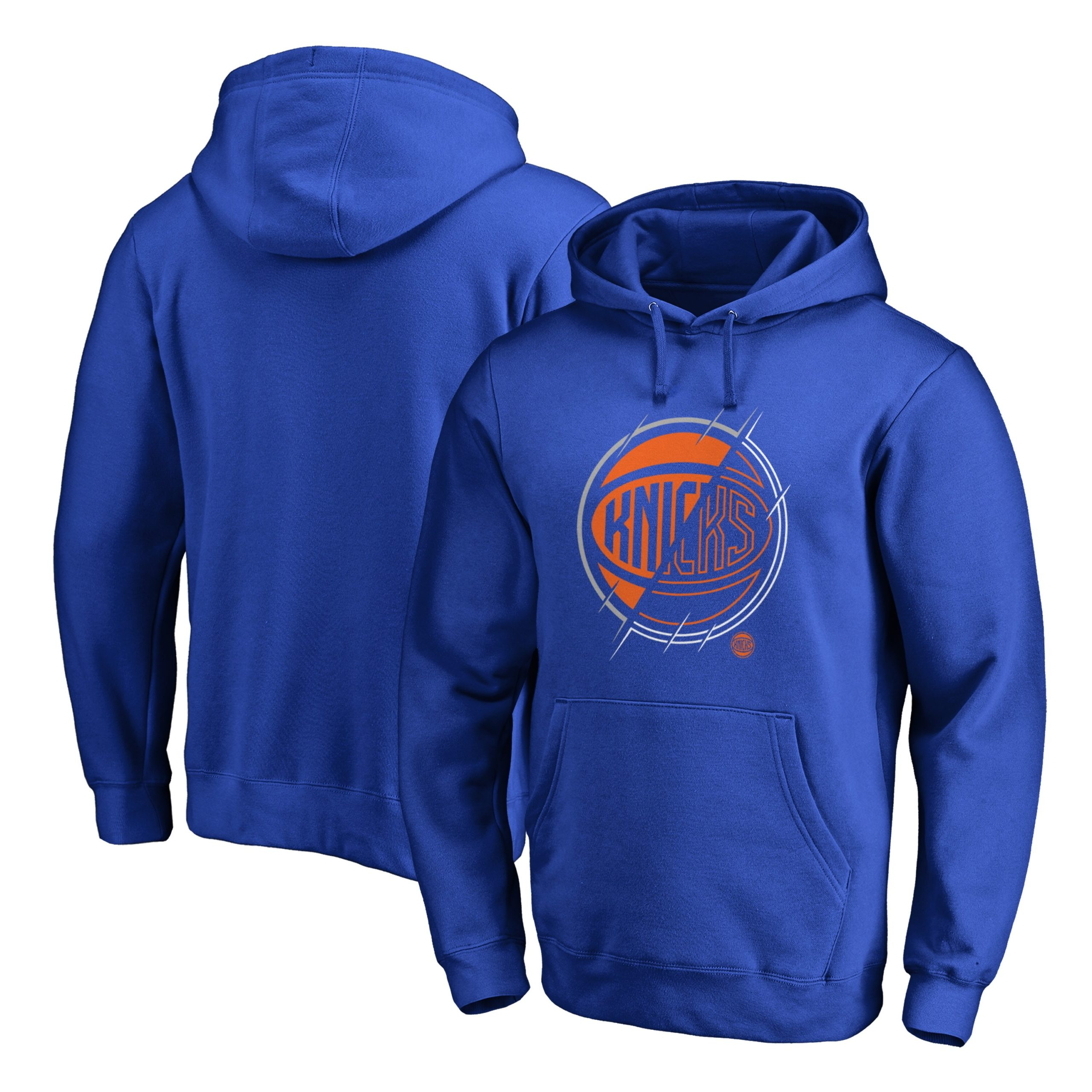 New York Knicks Fanatics Branded X-Ray Pullover Hoodie - Royal