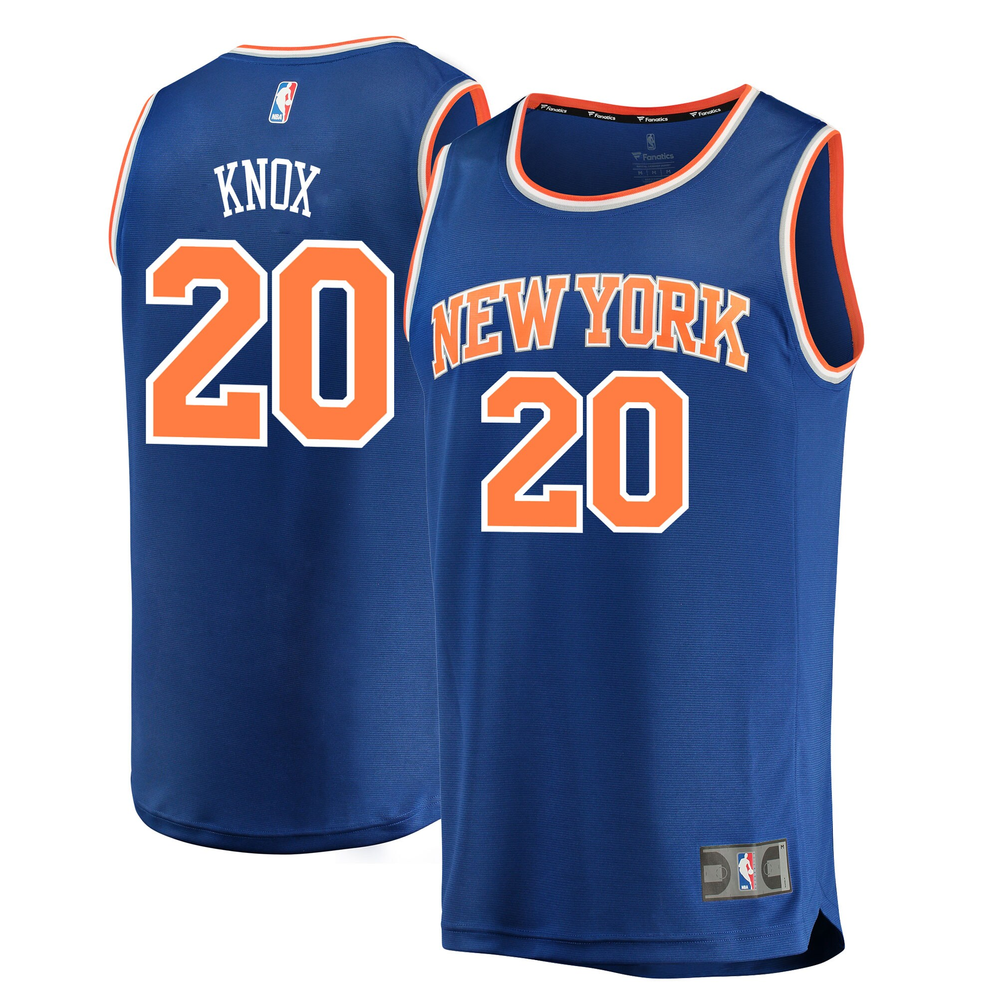 Kevin Knox New York Knicks Fanatics Branded 2018 NBA Draft First Round Pick Fast Break Replica Jersey Blue - Icon Edition