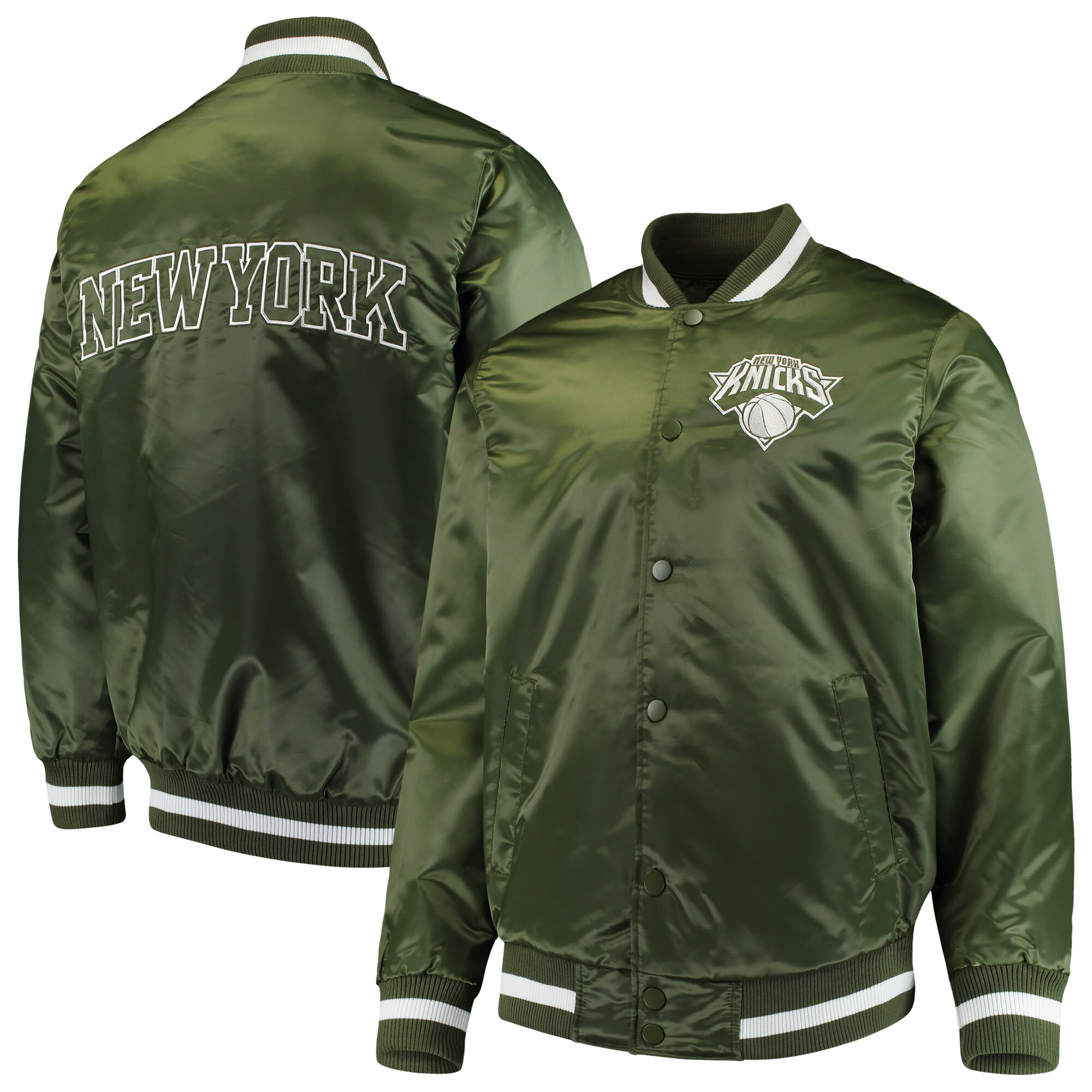 New York Knicks Starter Satin Full-Snap Jacket - Green