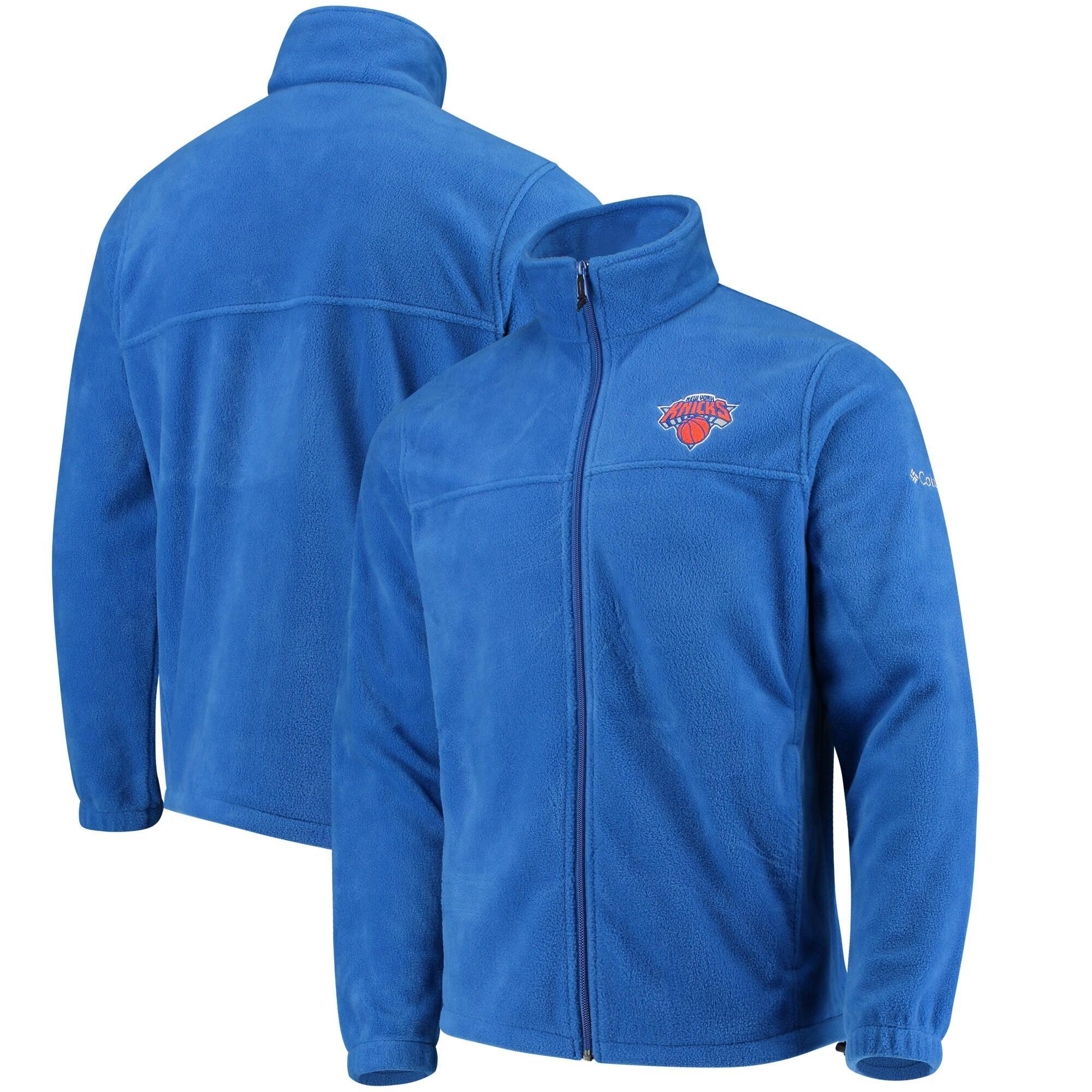 New York Knicks Columbia Flanker Fleece Full-Zip Jacket - Blue