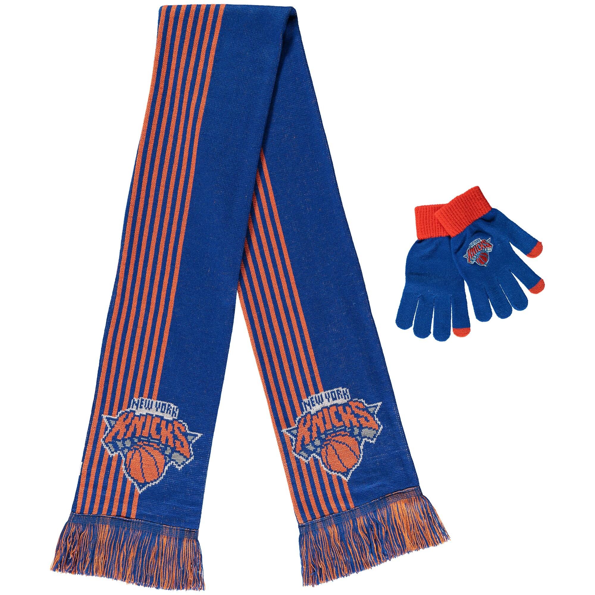 New York Knicks Women's Gloves & Scarf Set - Blue