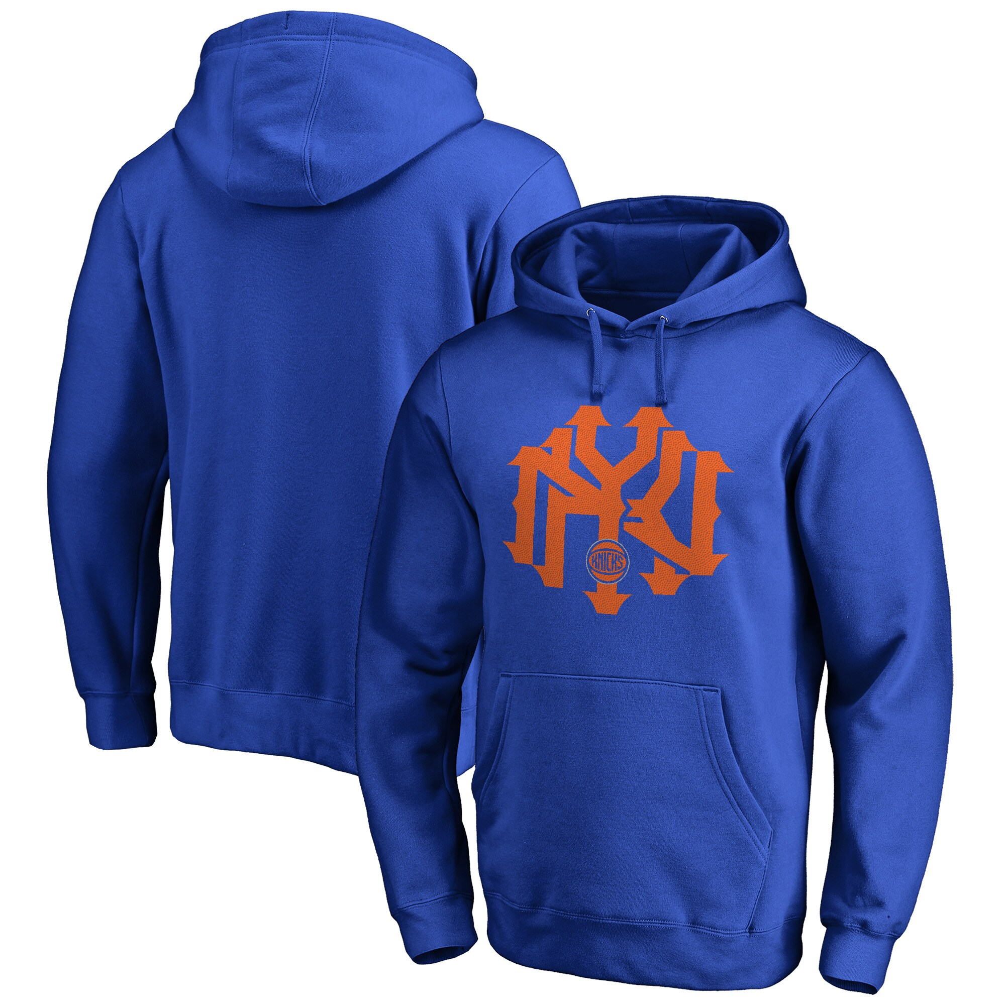 New York Knicks Fanatics Branded Big & Tall Ligature Hometown Collection Pullover Hoodie - Royal