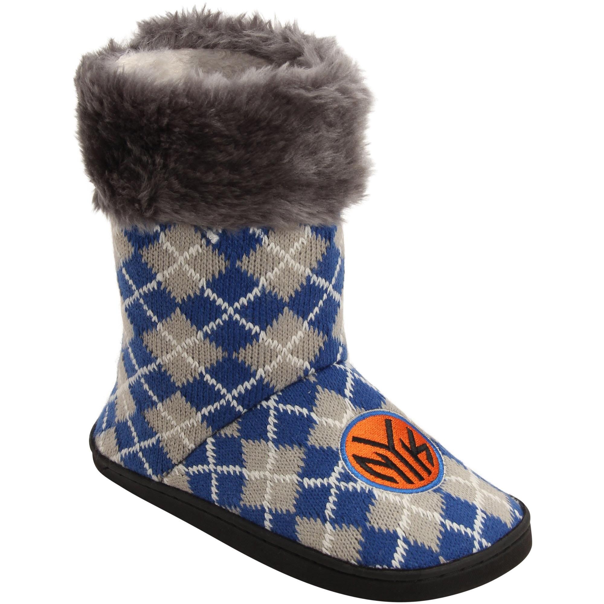 New York Knicks Women's Argyle Fur Boot