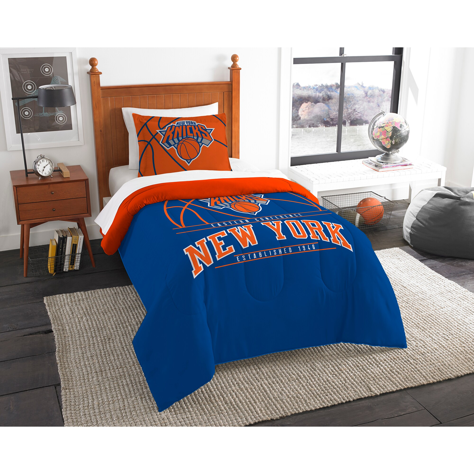New York Knicks The Northwest Company Reverse Slam Twin Comforter Set