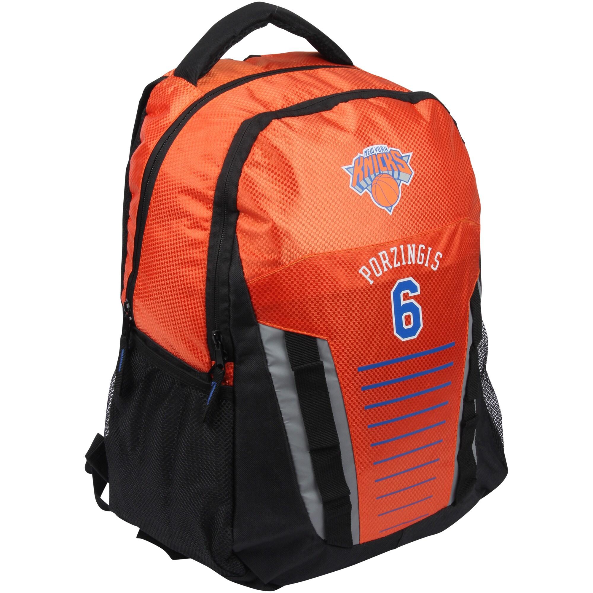Kristaps Porzingis New York Knicks Player Franchise Backpack - Orange