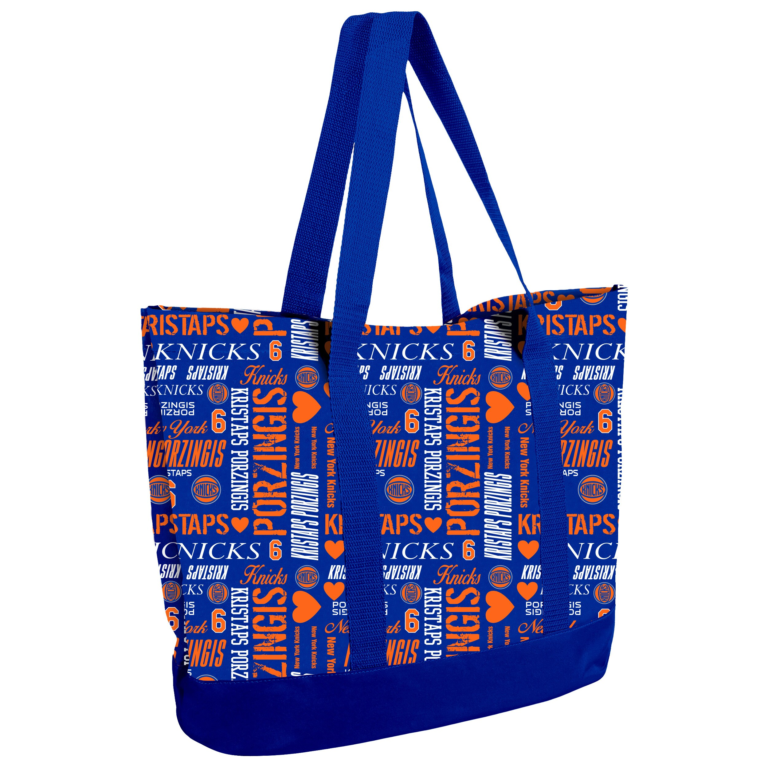 Kristaps Porzingis New York Knicks Women's Player Collage Tote Bag
