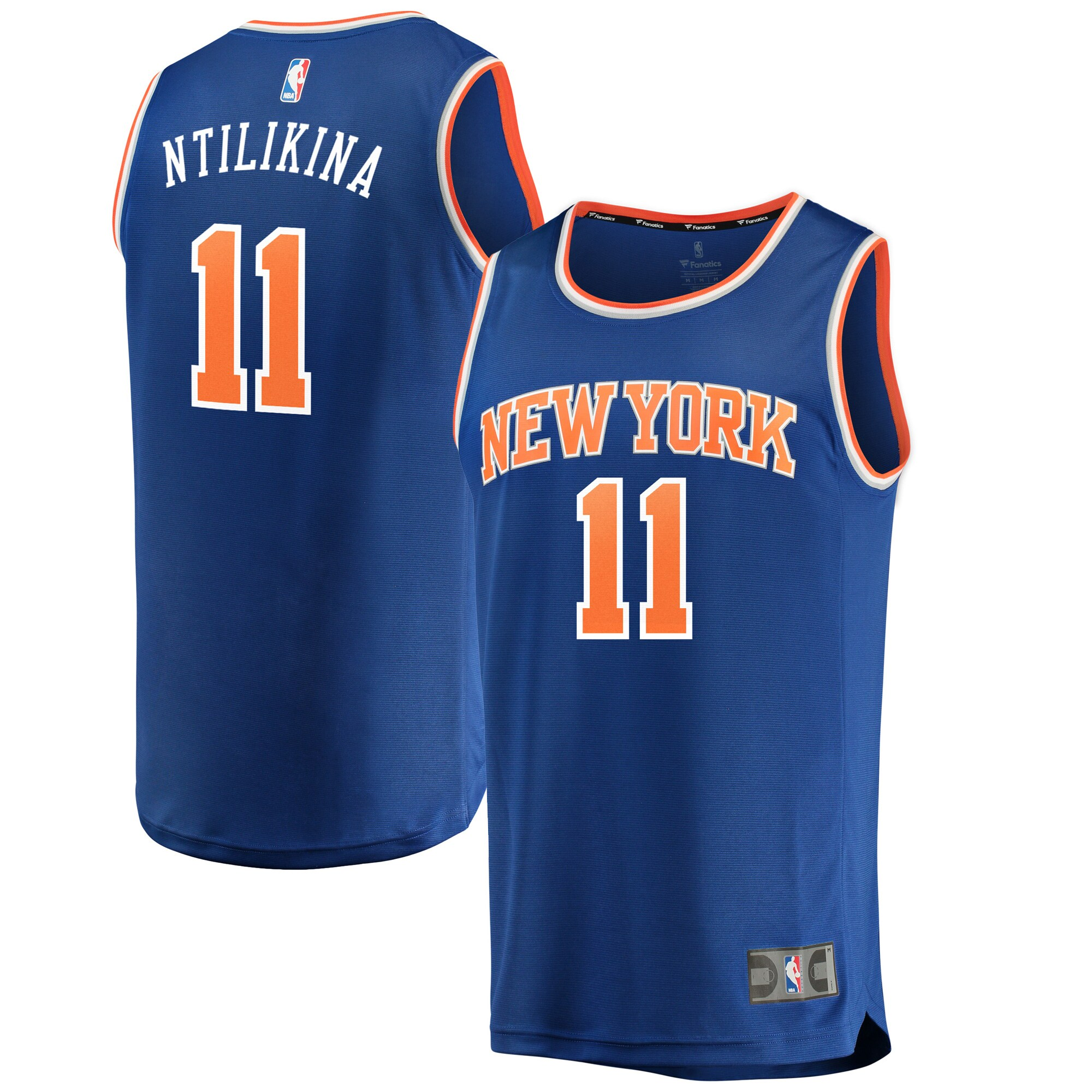 Frank Ntilikina New York Knicks Fanatics Branded Fast Break Replica Jersey Royal - Icon Edition