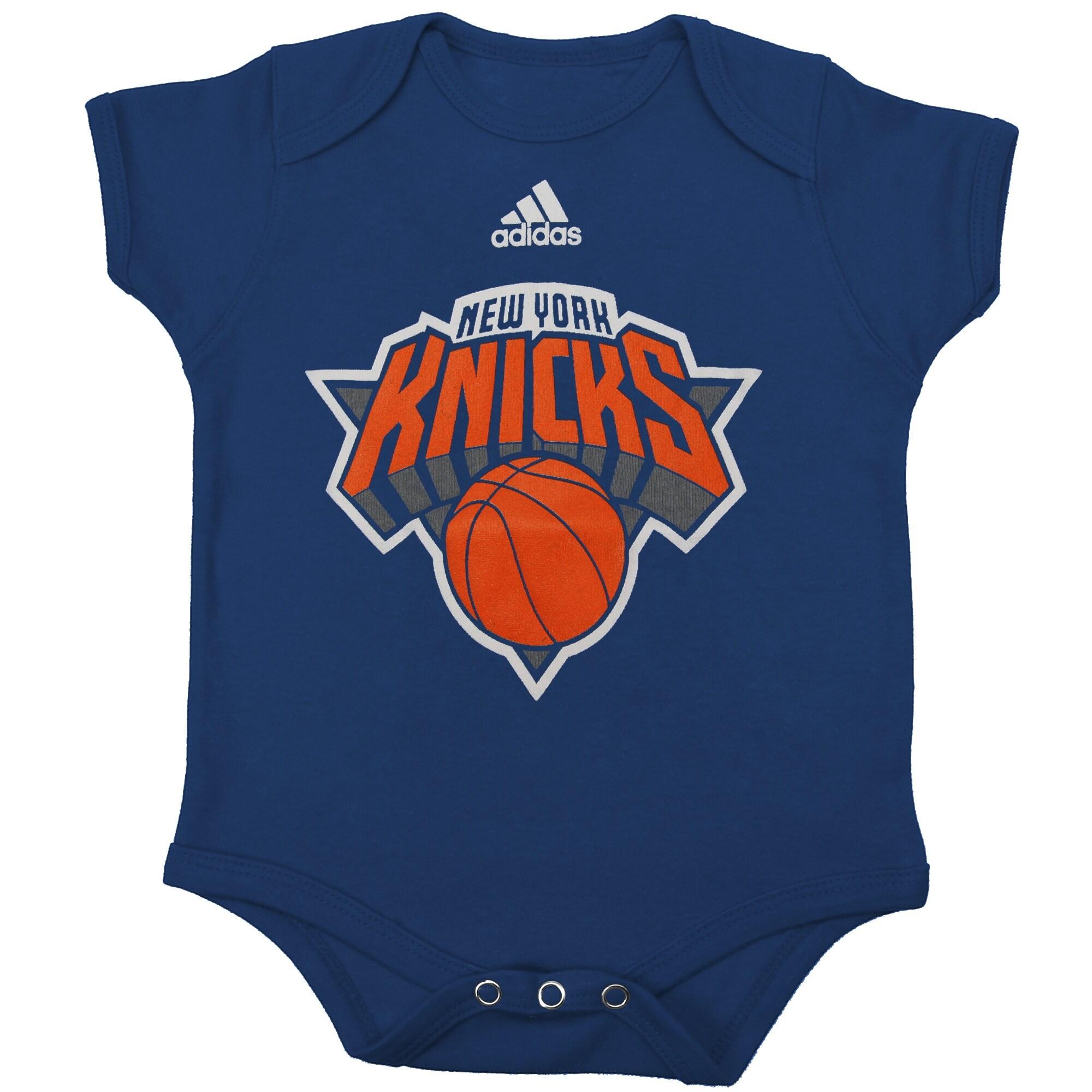 New York Knicks adidas Infant Primary Logo Bodysuit - Blue