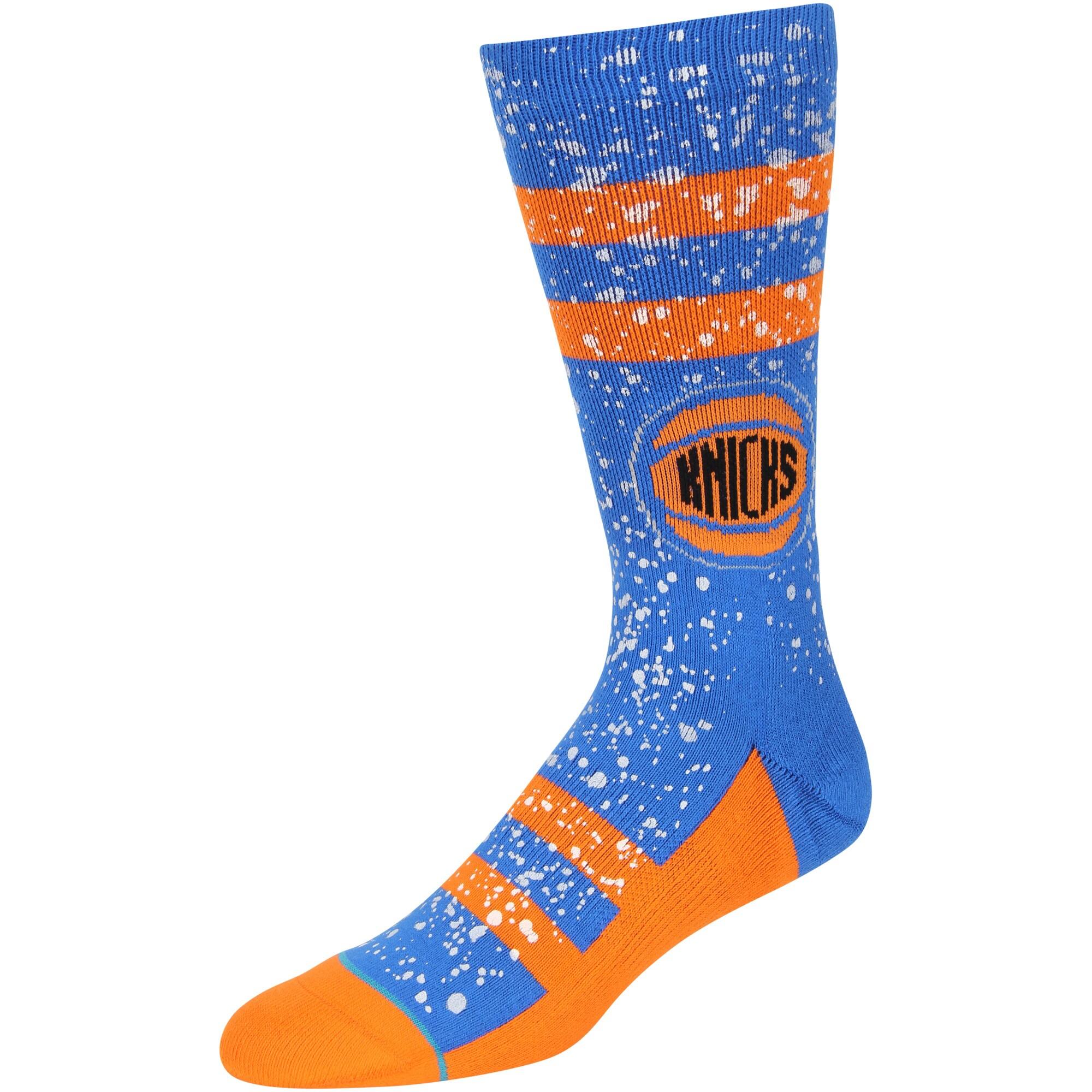 New York Knicks Stance Overspray Crew Socks - Royal