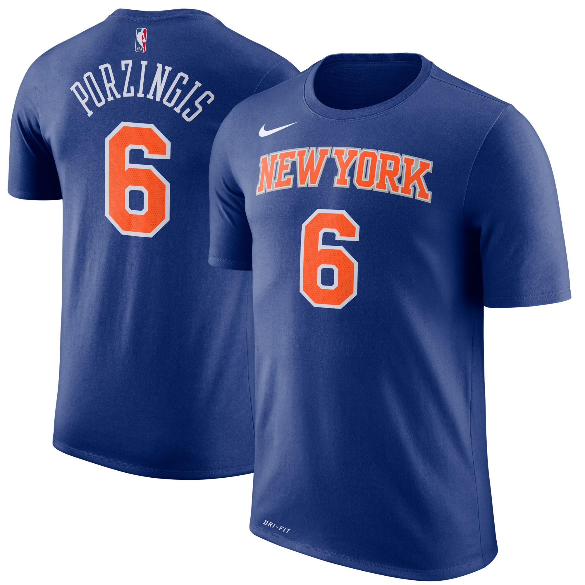 Kristaps Porzingis New York Knicks Nike Youth Name & Number T-Shirt - Blue