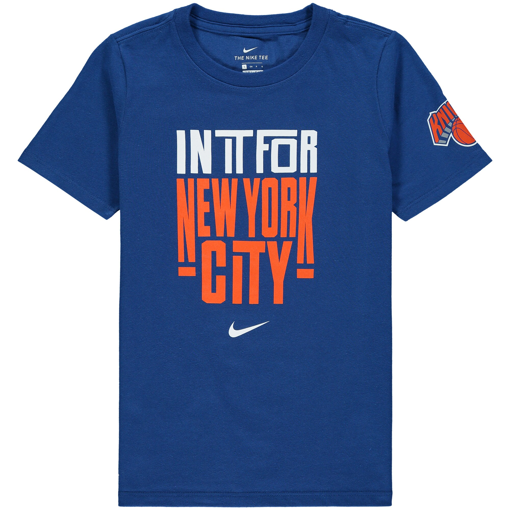 New York Knicks Nike Youth In It Verbiage Performance T-Shirt - Blue