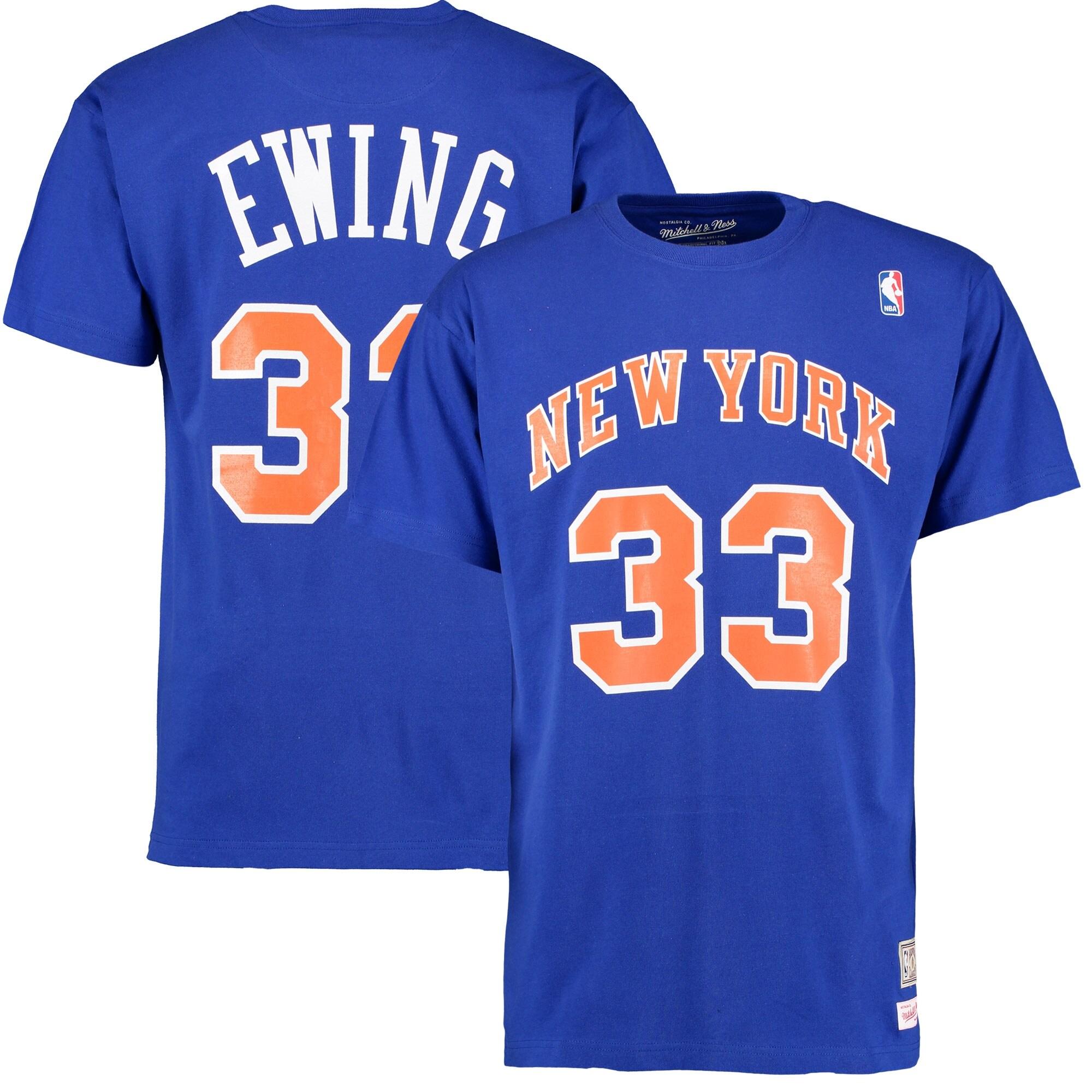 Patrick Ewing New York Knicks Mitchell & Ness Hardwood Classics Name & Number T-Shirt - Royal