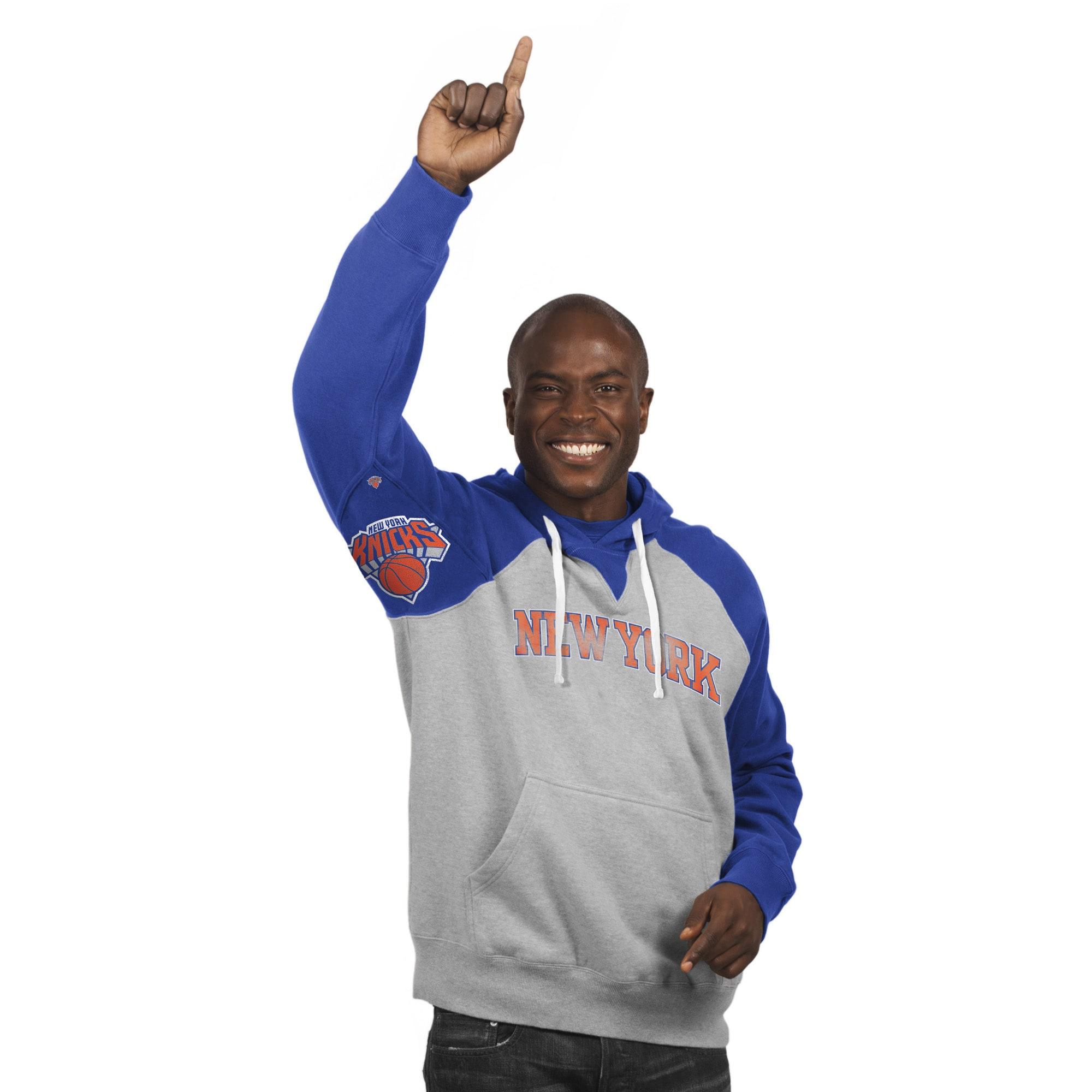New York Knicks Hands High Pullover Hoodie - Gray