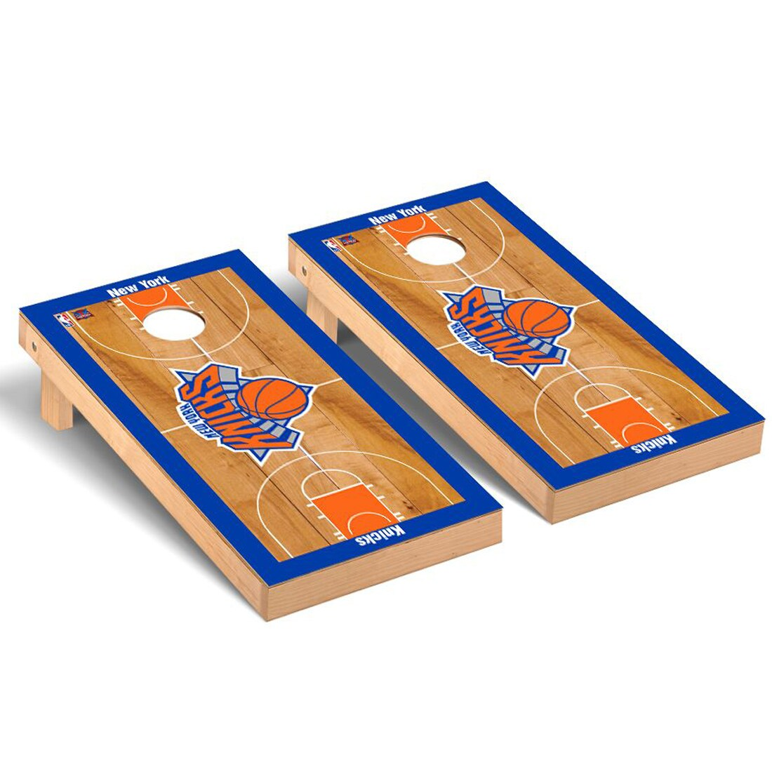 New York Knicks 2' x 4' Court Museum Cornhole Board Tailgate Toss Set