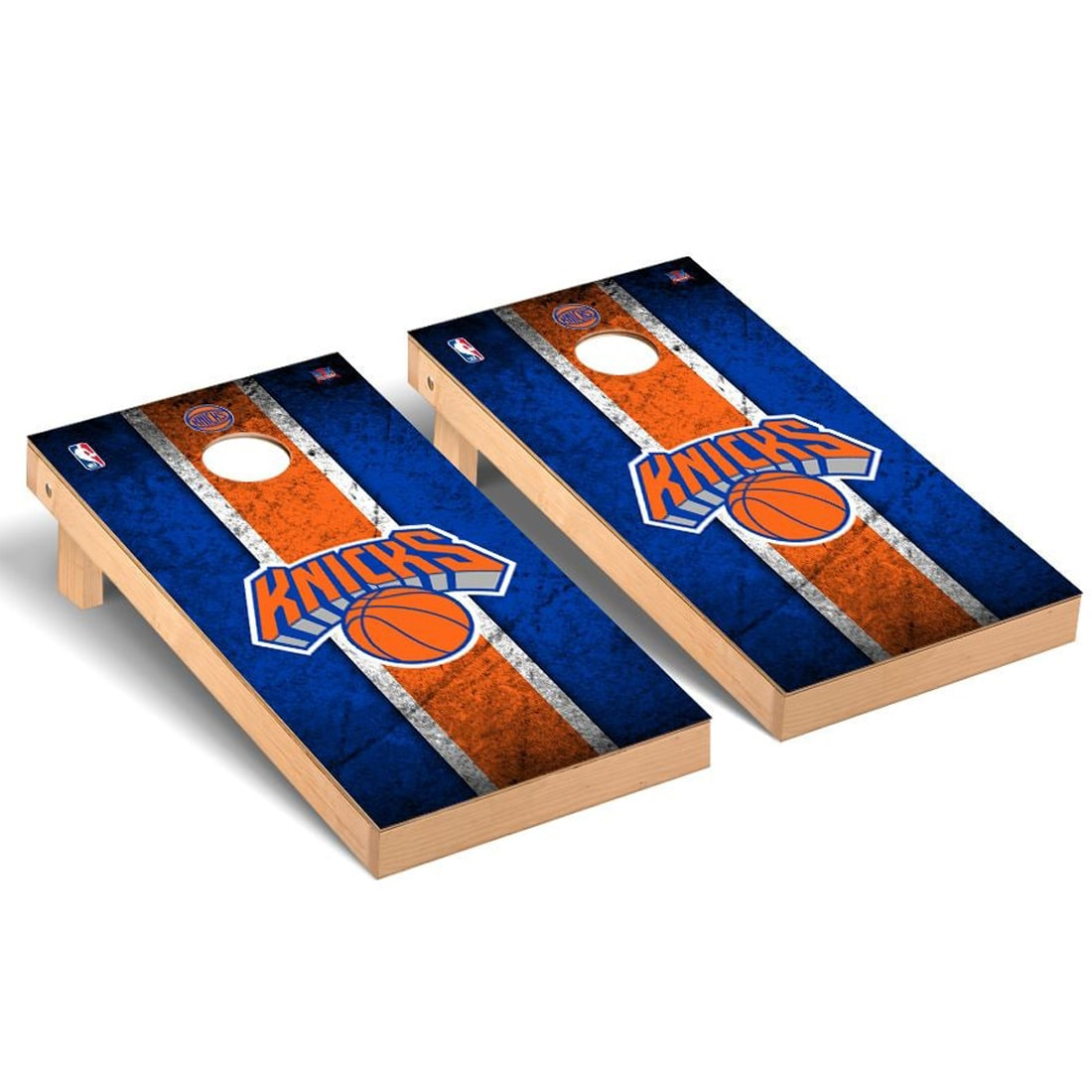 New York Knicks 2' x 4' Vintage Museum Cornhole Board Tailgate Toss Set