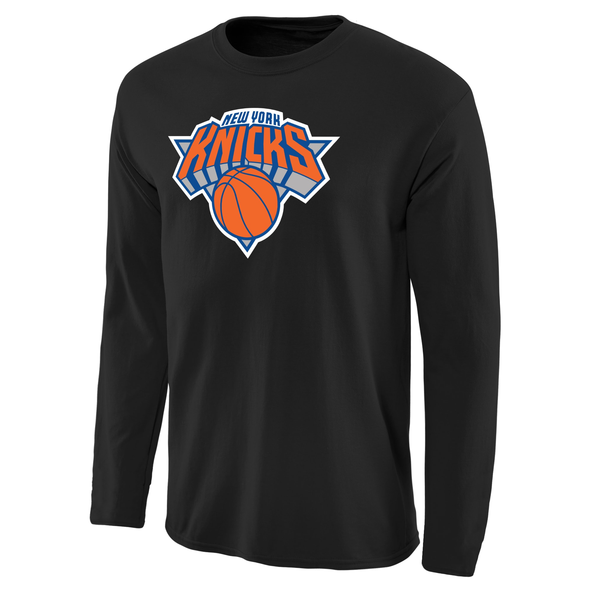 New York Knicks Fanatics Branded Primary Logo Long Sleeve T-Shirt - Black