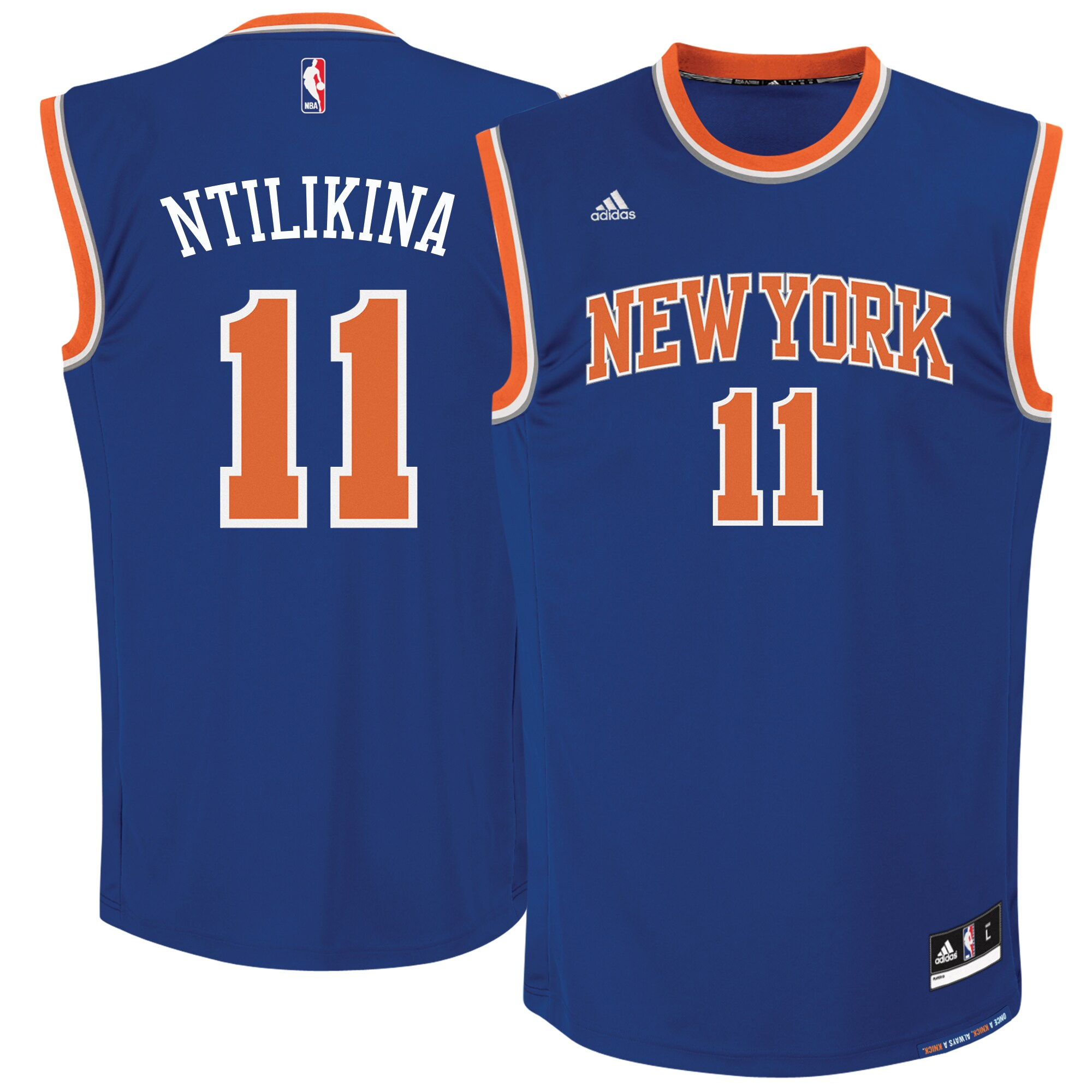 Frank Ntilikina New York Knicks adidas 2017 NBA Draft #1 Pick Replica Jersey - Royal