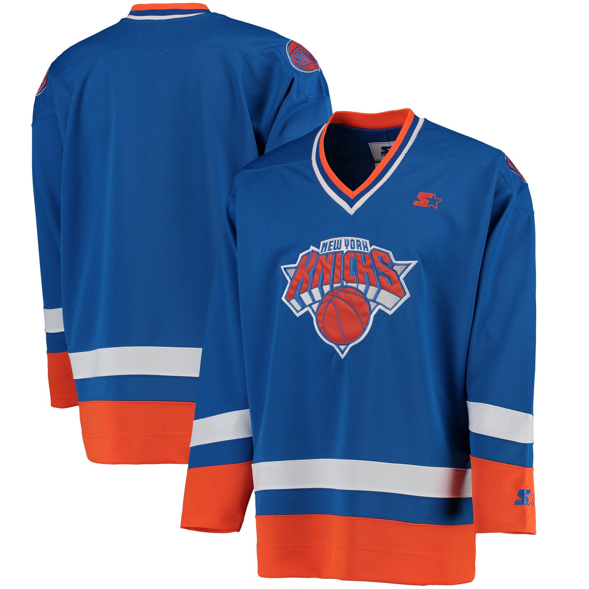 New York Knicks G-III Sports by Carl Banks Hockey Jersey - Royal/Orange