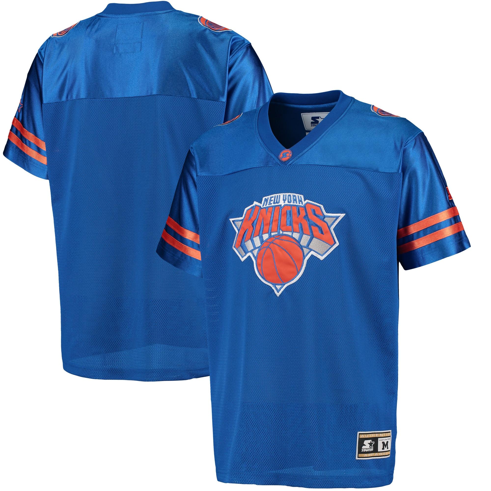 New York Knicks G-III Sports by Carl Banks Football Jersey - Royal