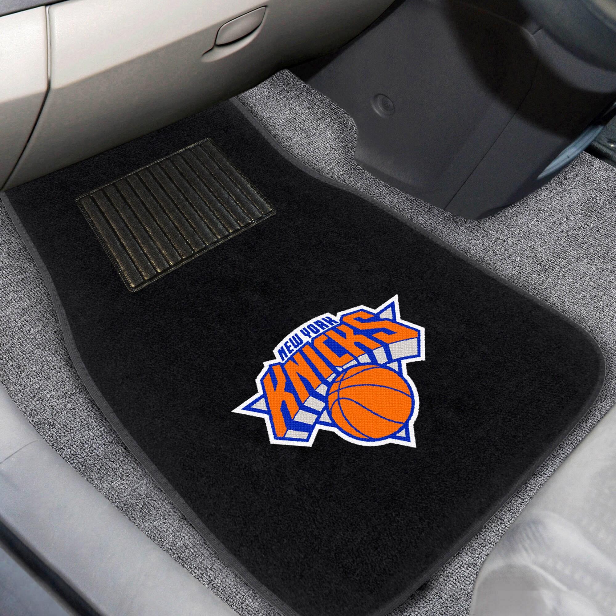 New York Knicks 2-Piece Embroidered Car Mat Set