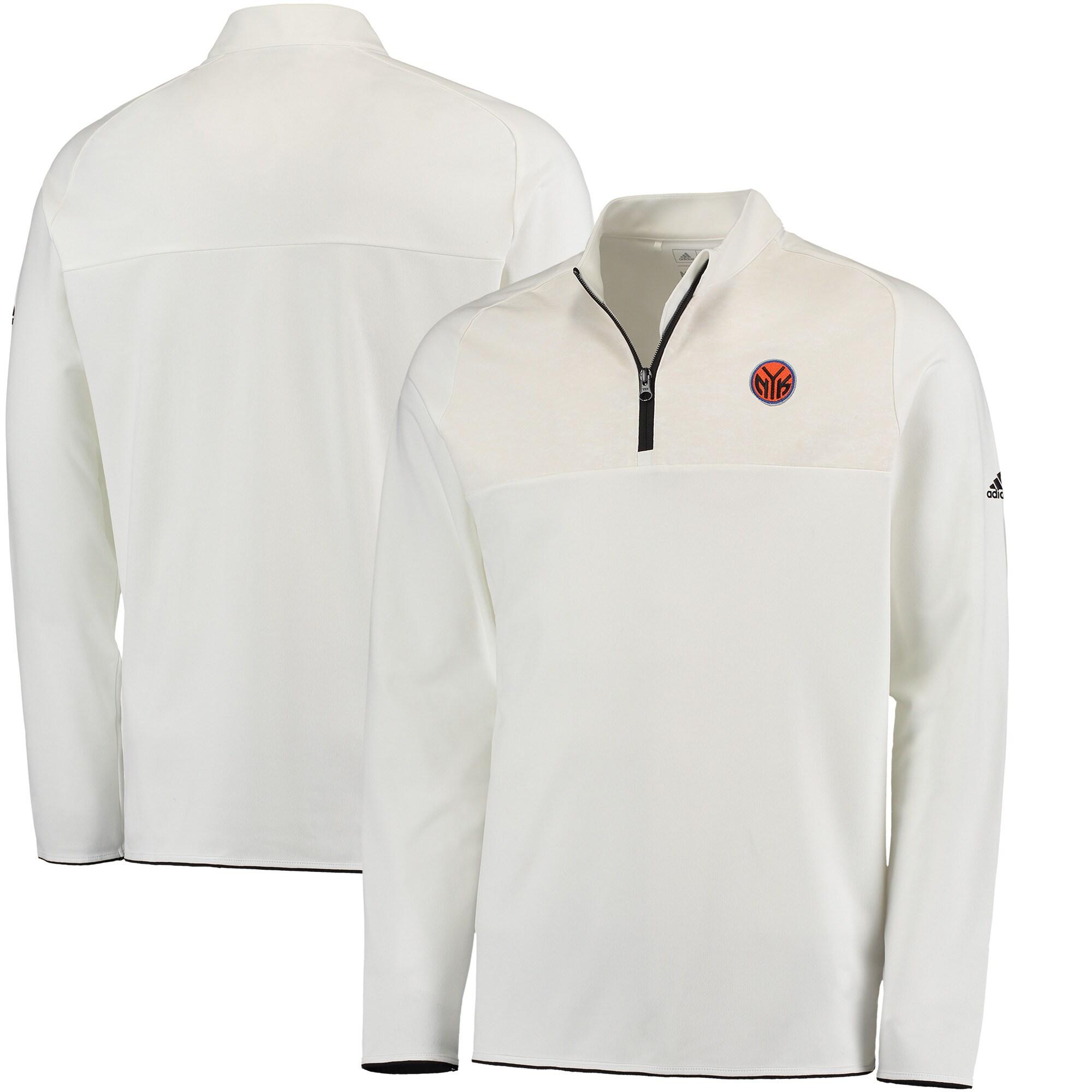 New York Knicks adidas Fashion 2 Layering climawarm Pullover Jacket - White