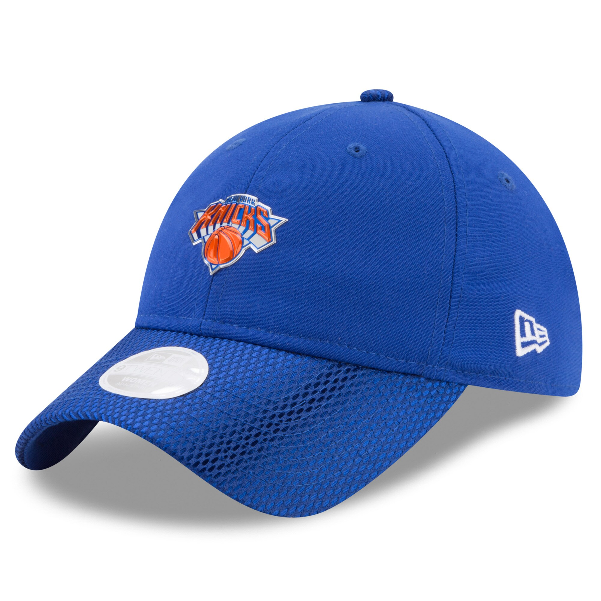 New York Knicks New Era Women's On-Court 9TWENTY Adjustable Hat - Blue