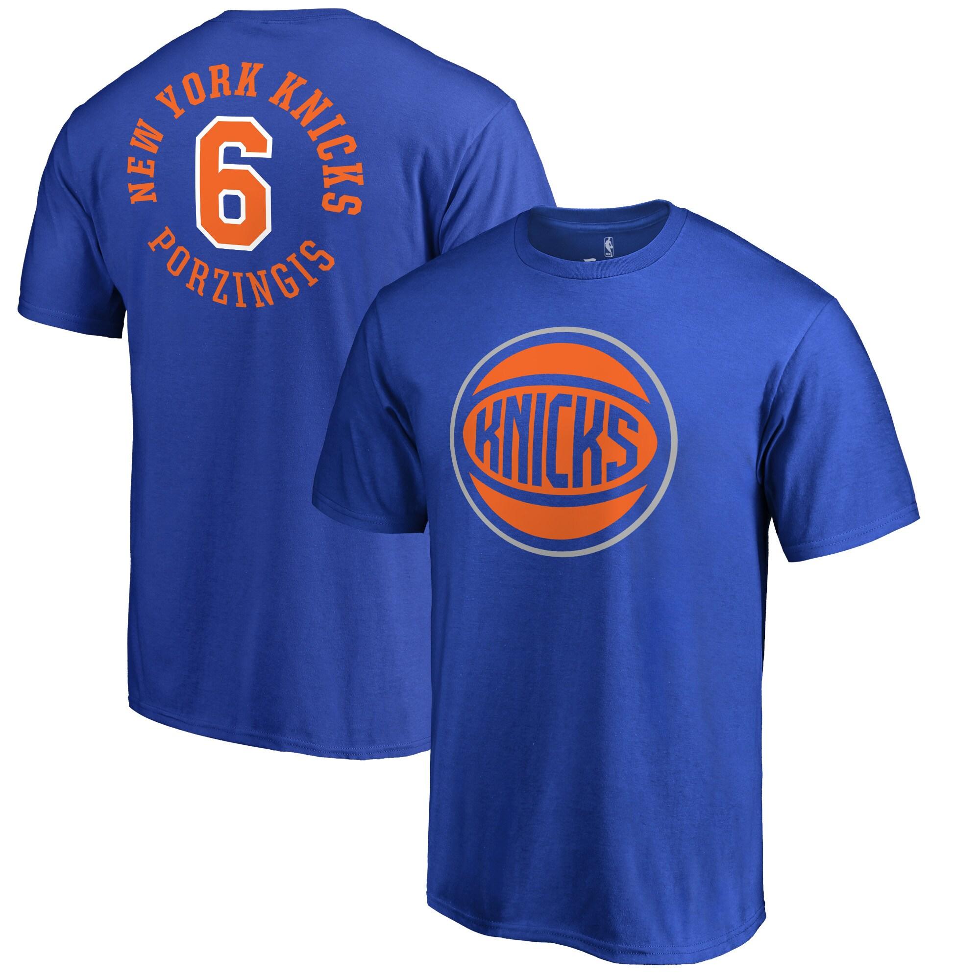 Kristaps Porzingis New York Knicks Fanatics Branded Round About Name & Number T-Shirt - Blue