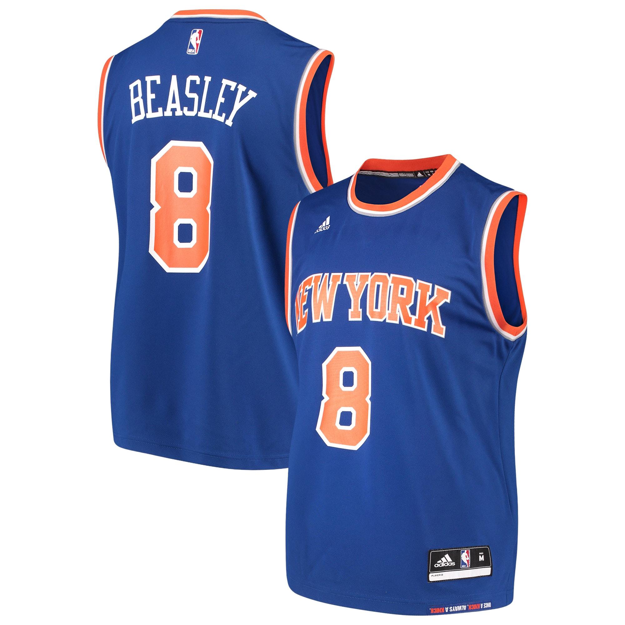 Michael Beasley New York Knicks adidas Road Replica Jersey - Blue
