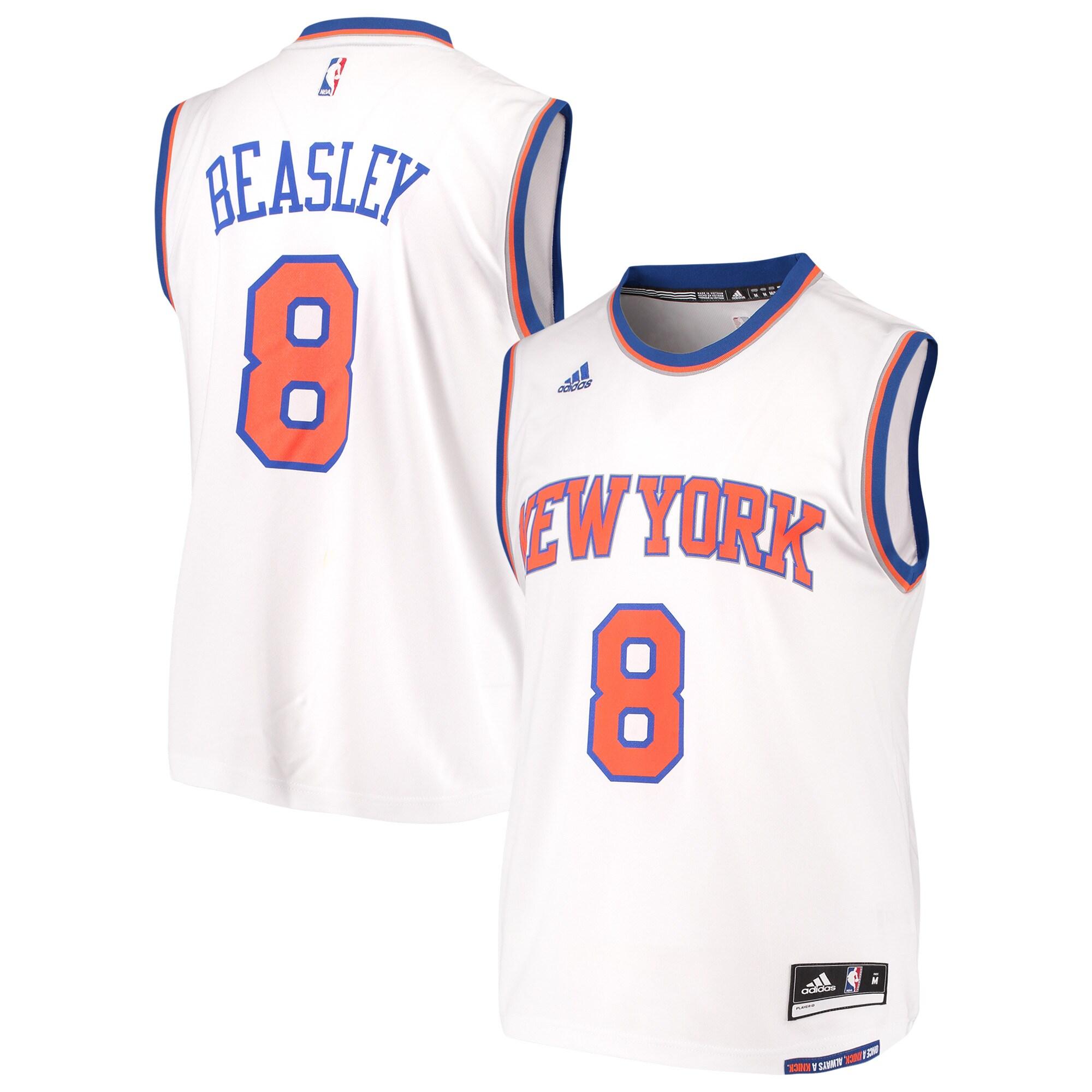 Michael Beasley New York Knicks adidas Home Replica Jersey - White