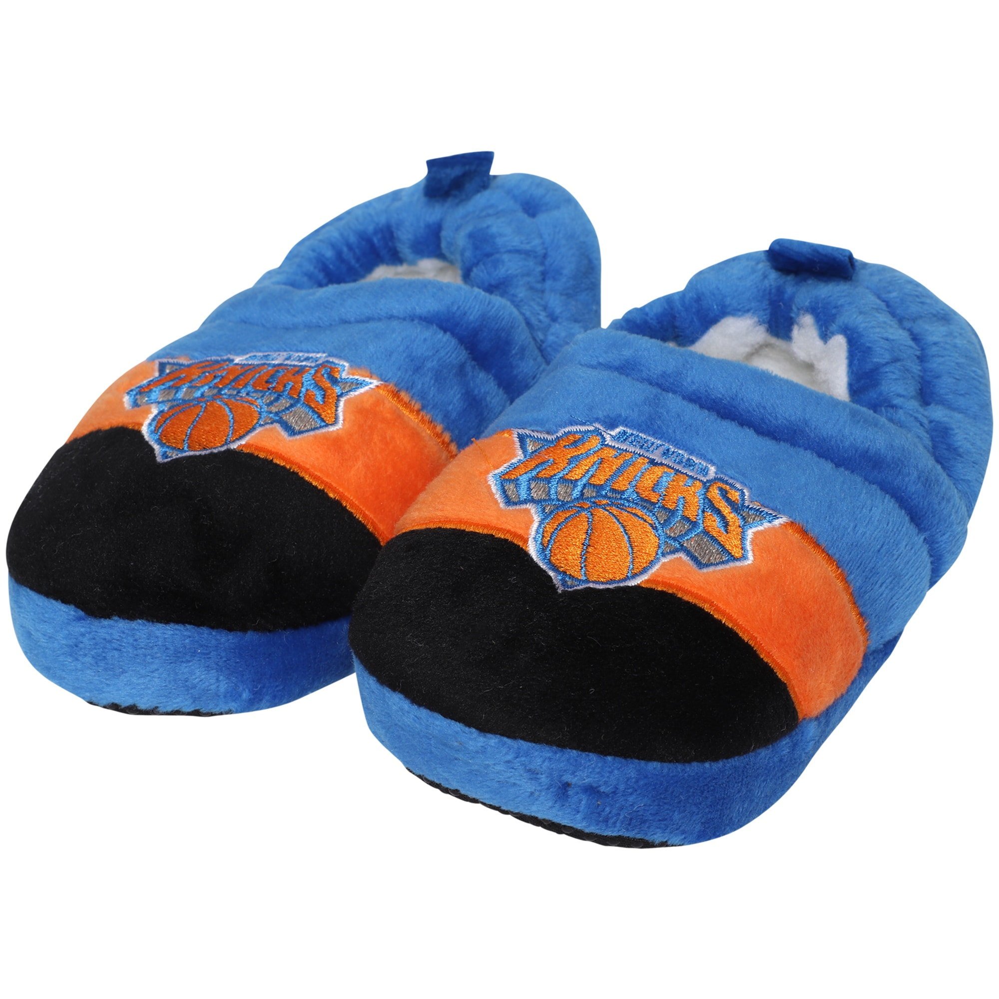 New York Knicks Toddler Color Block Close Back Slippers