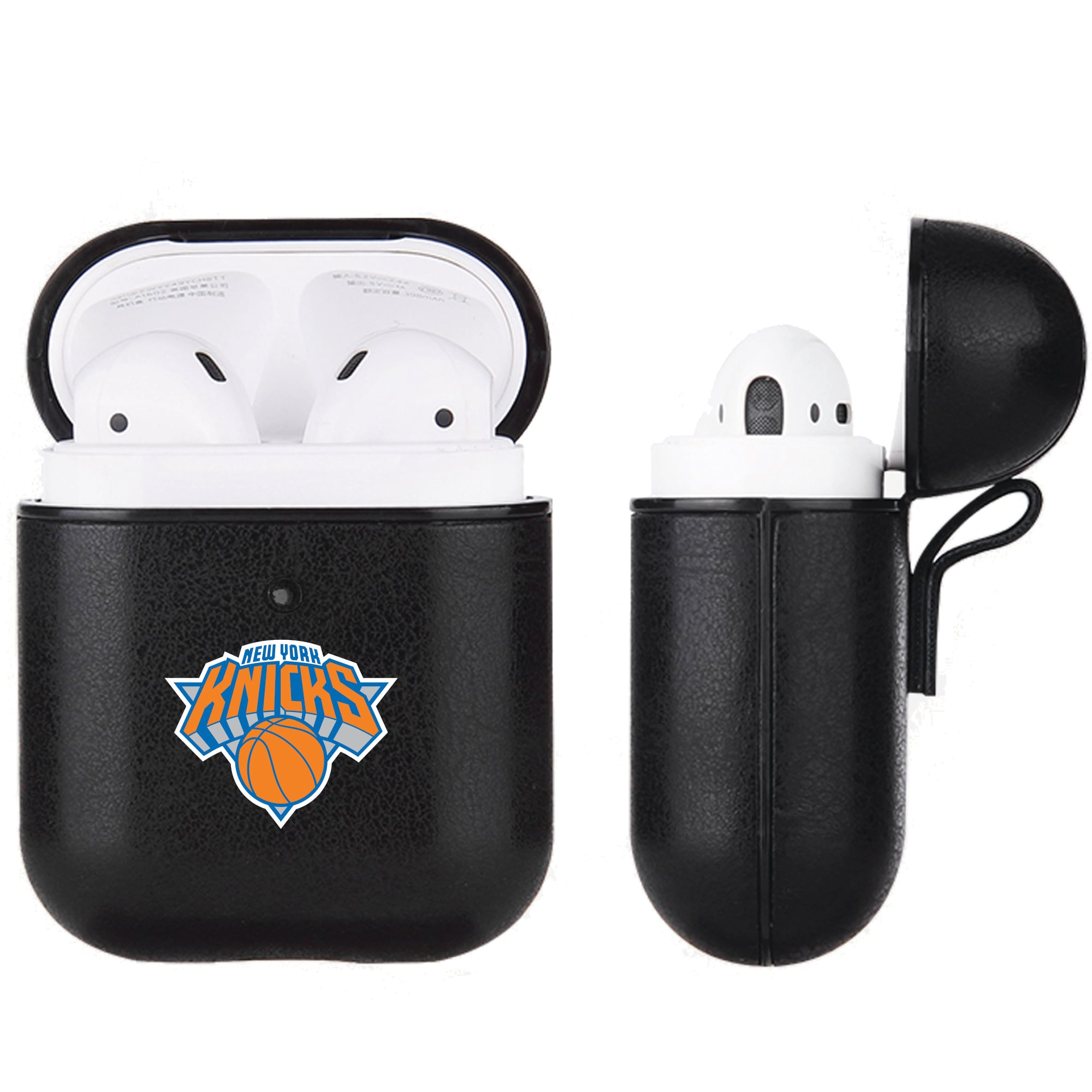 New York Knicks Air Pods Black Leatherette Case