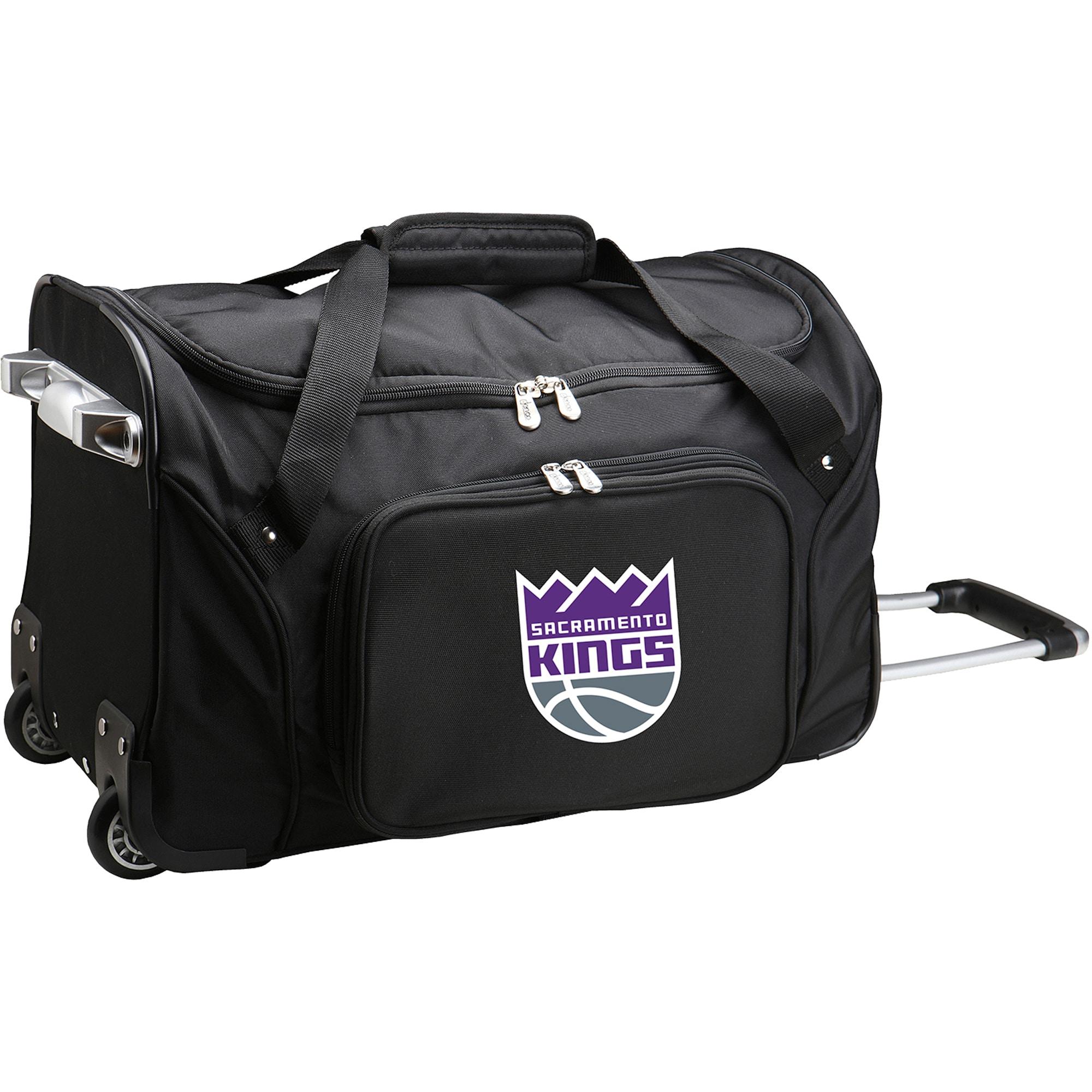 """Sacramento Kings 22"""" 2-Wheeled Duffel Bag - Black"""