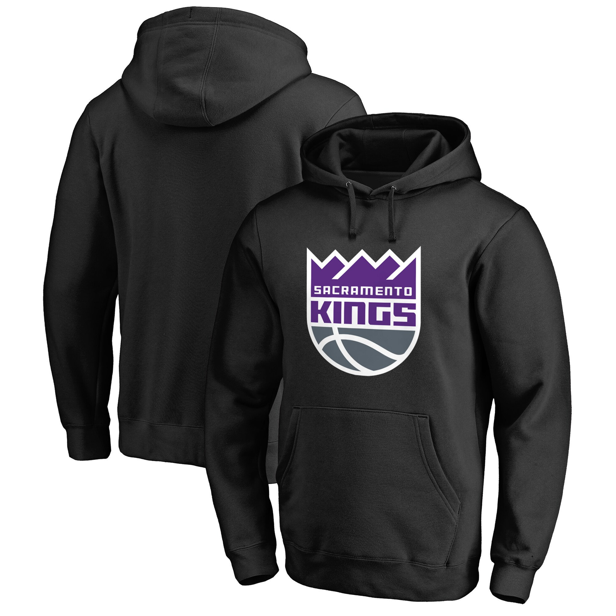 Sacramento Kings Primary Logo Pullover Hoodie - Black