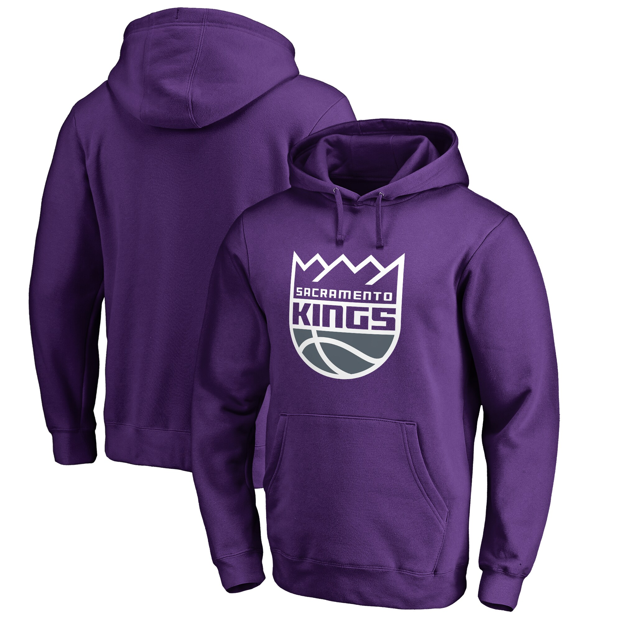 Sacramento Kings Primary Logo Pullover Hoodie - Purple