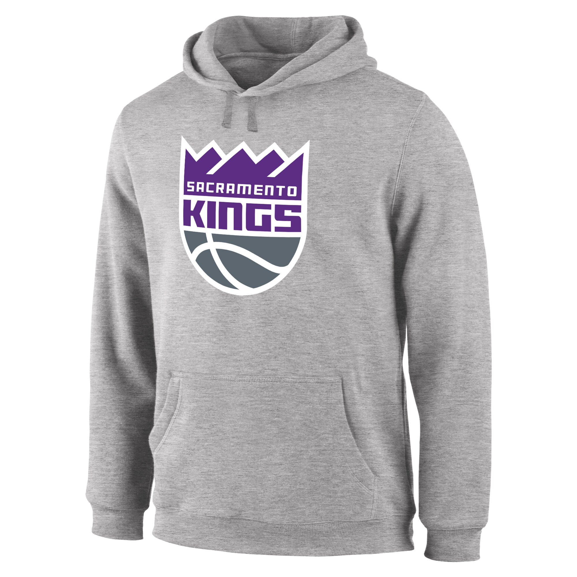 Sacramento Kings Primary Logo Pullover Hoodie - Heather Gray