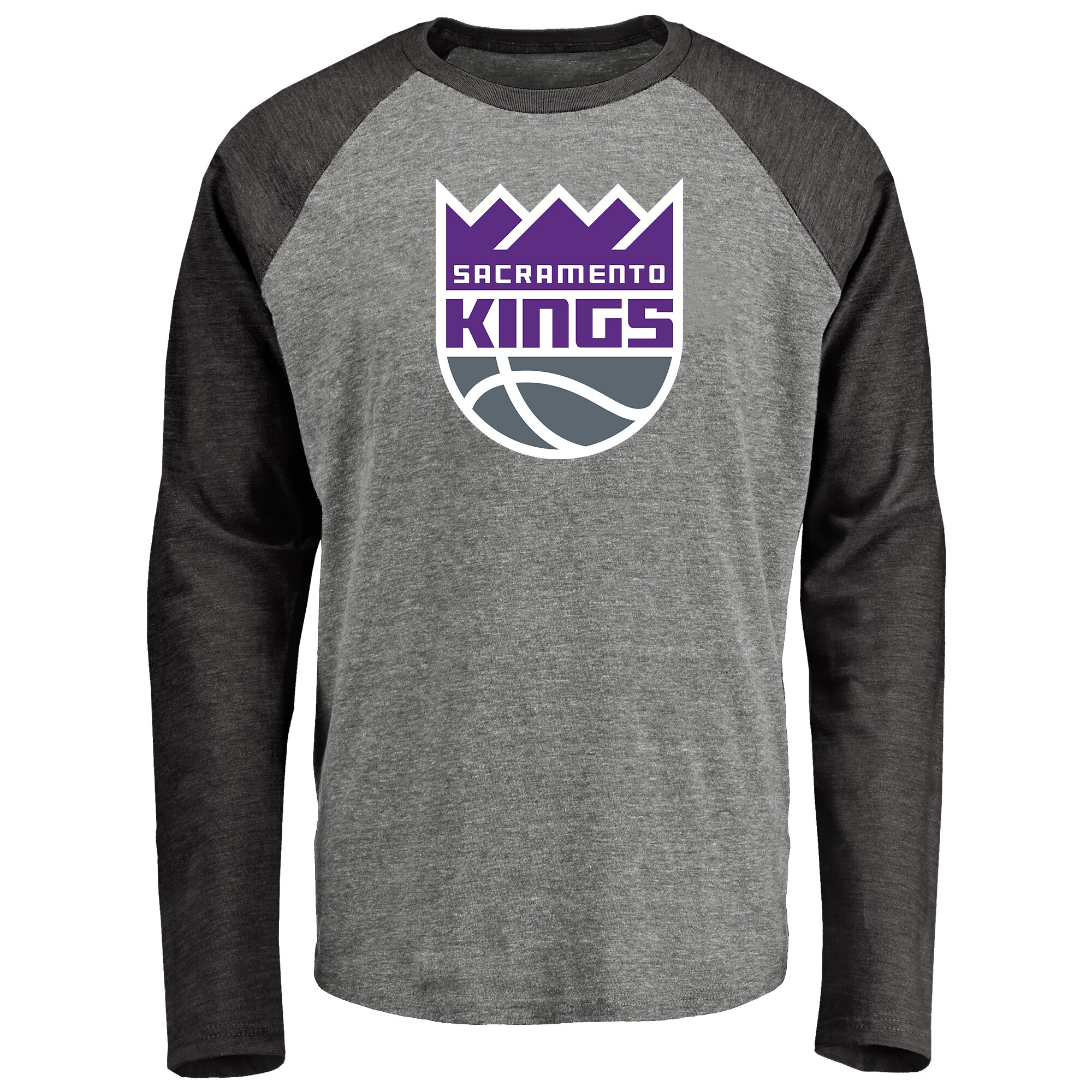 Sacramento Kings Fanatics Branded Primary Logo Raglan Long Sleeve T-Shirt - Heathered Gray