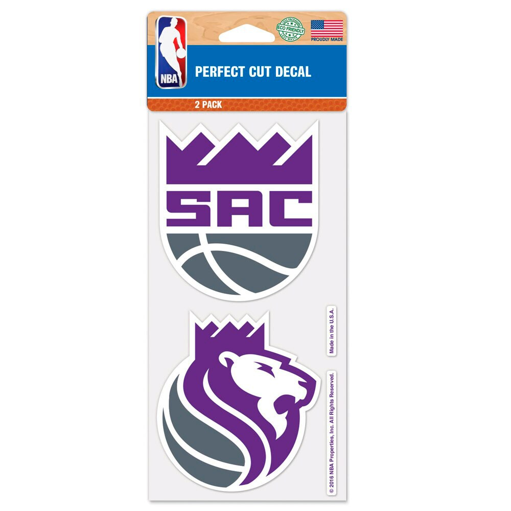 "Sacramento Kings WinCraft 4"" x 4"" Perfect Cut 2-Pack Car Decal Set"