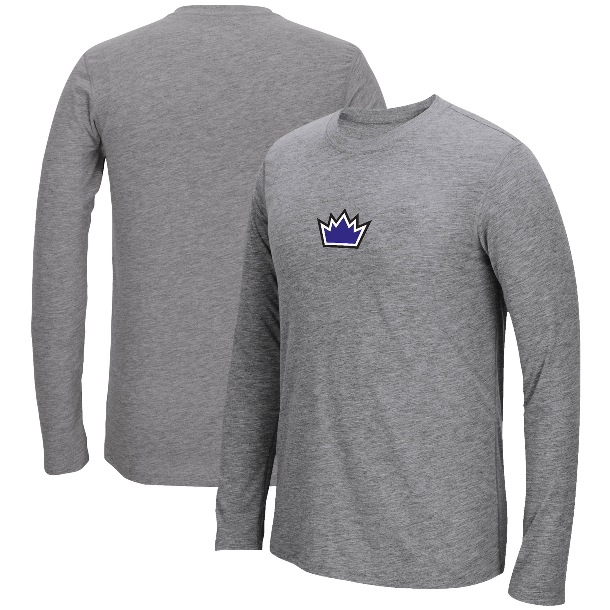 Sacramento Kings adidas Pre-Game Ultimate climalite Long Sleeve T-Shirt - Heathered Gray