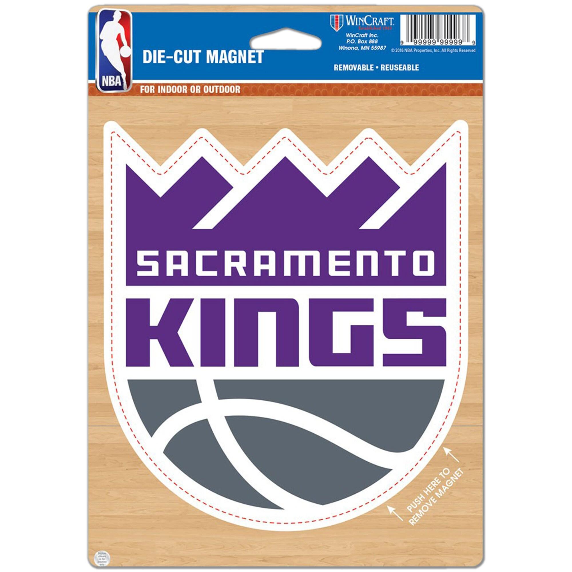 """Sacramento Kings WinCraft 6"""" x 9"""" Logo Car Magnet"""