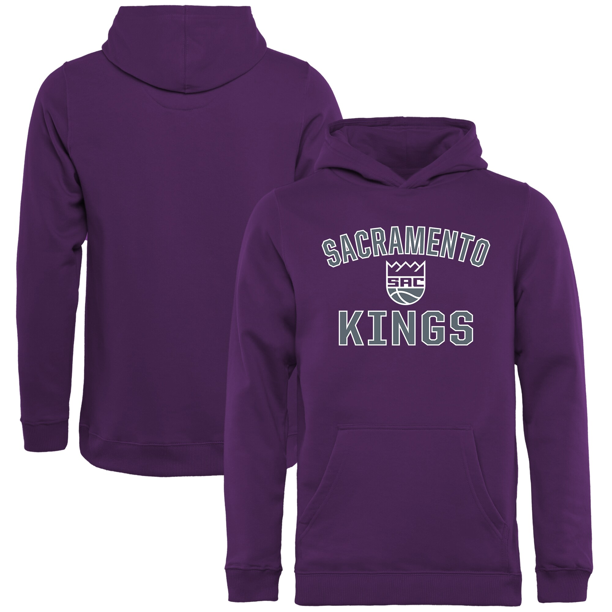 Sacramento Kings Youth Victory Arch Pullover Hoodie - Purple