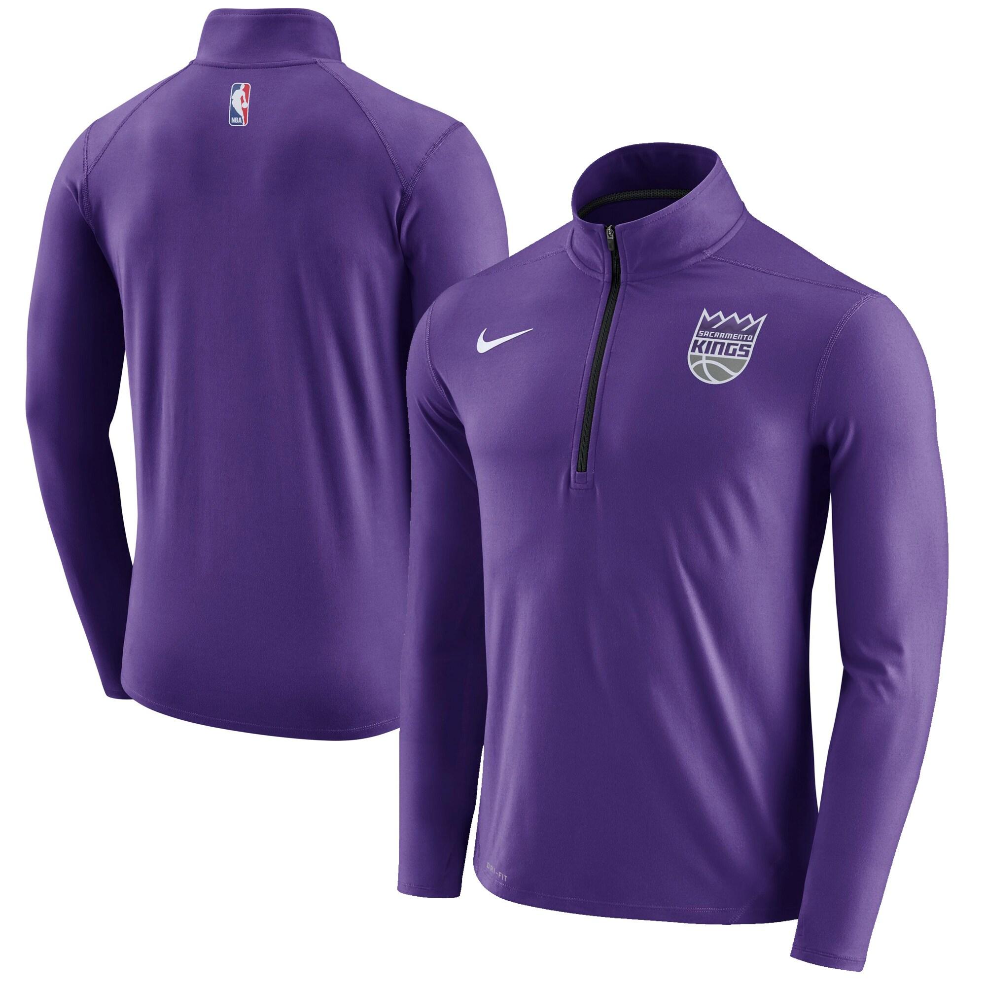 Sacramento Kings Nike Element Performance Quarter-Zip Jacket - Purple