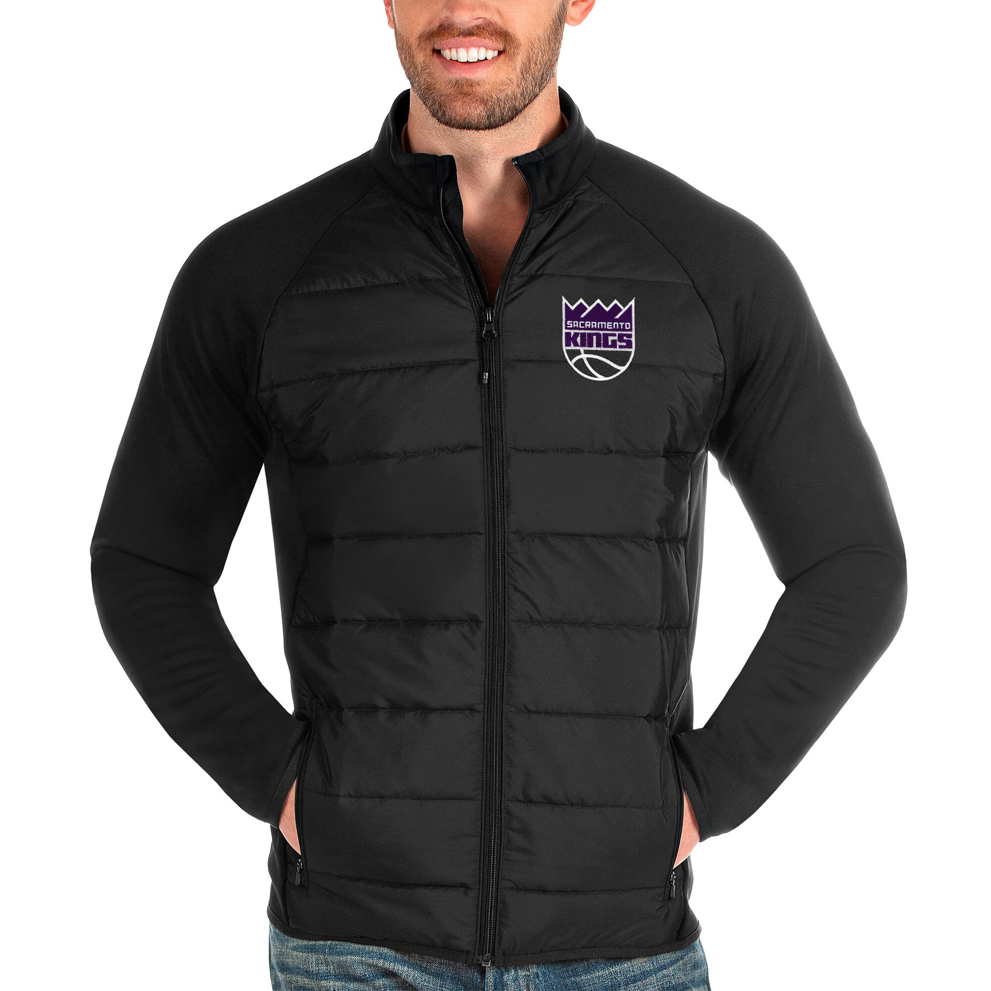 Sacramento Kings Antigua Altitude Full-Zip Jacket - Black
