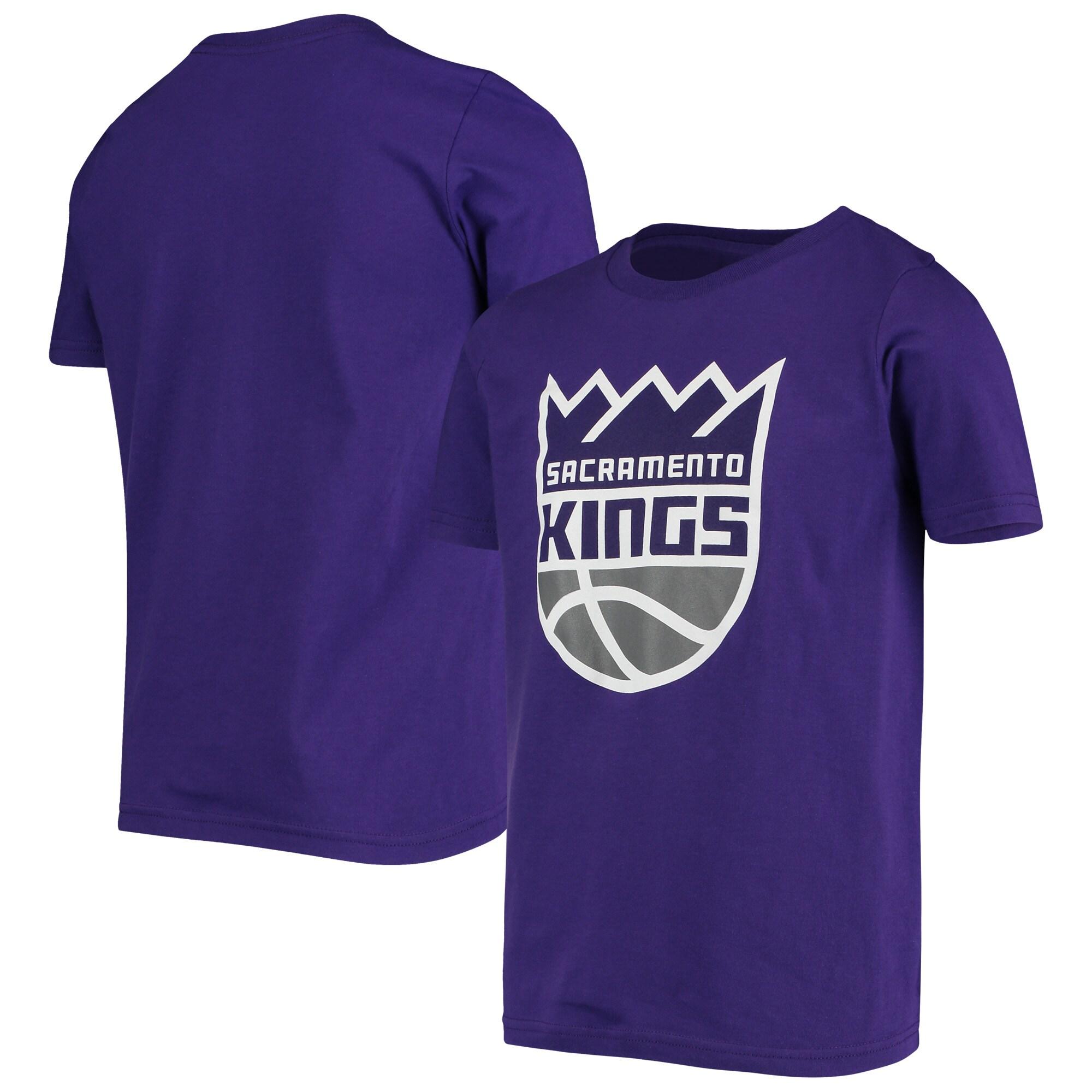 Sacramento Kings Youth Primary Logo T-Shirt - Purple