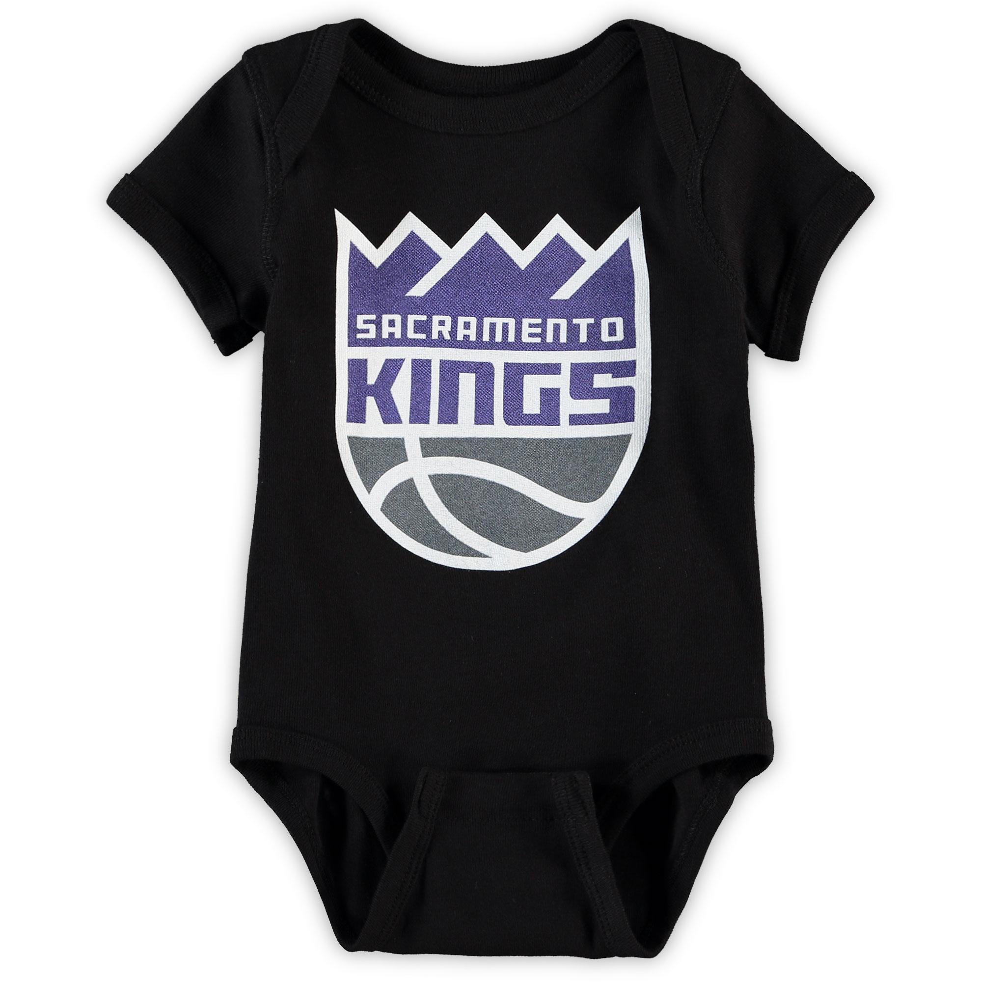 Sacramento Kings Infant Primary Team Logo Bodysuit - Black