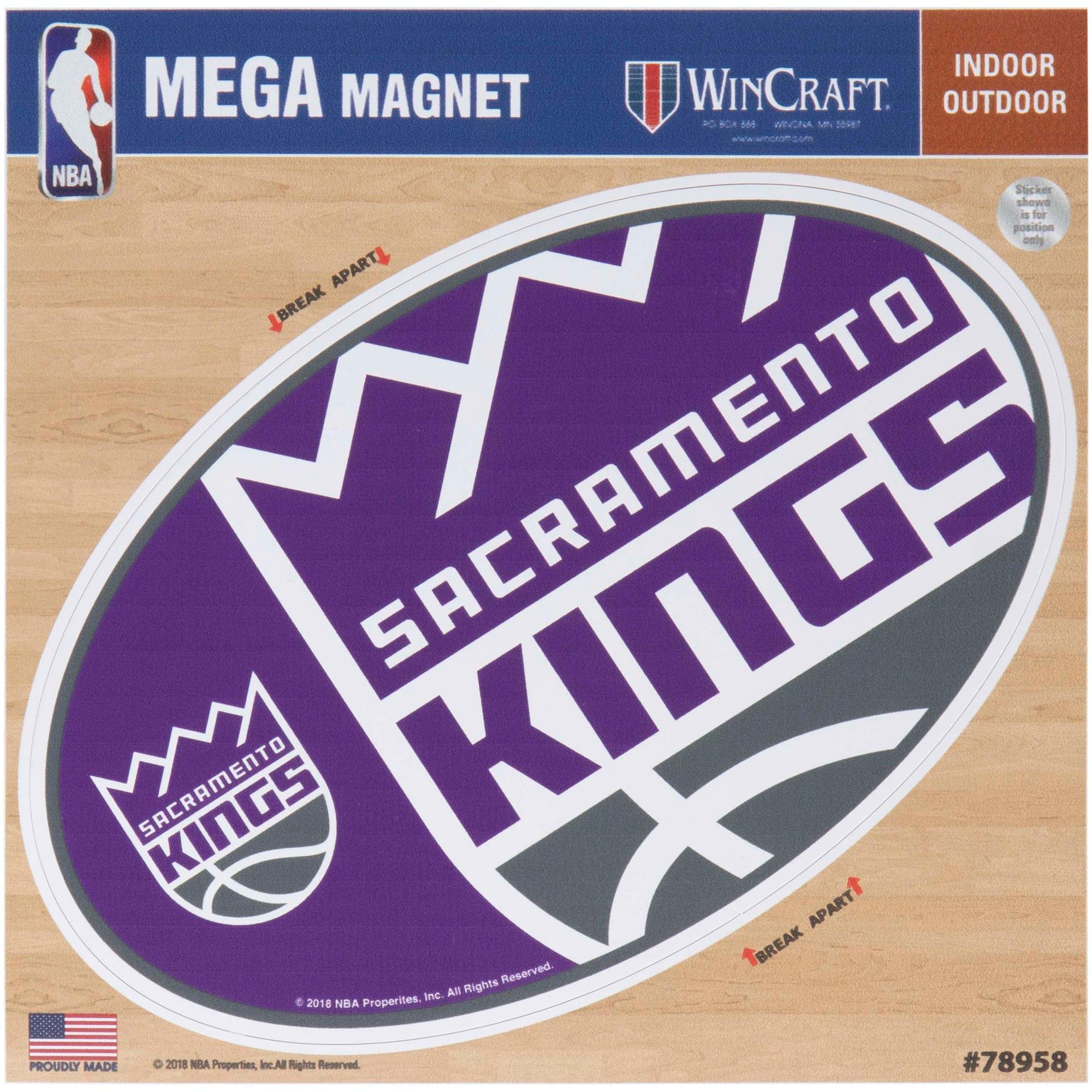 "Sacramento Kings 6"" x 6"" Mega Magnet"