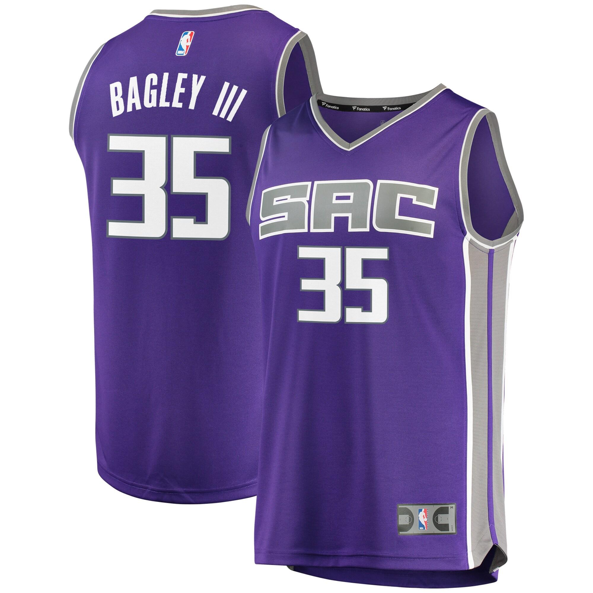 Marvin Bagley III Sacramento Kings Fanatics Branded Fast Break Replica Jersey - Icon Edition - Purple