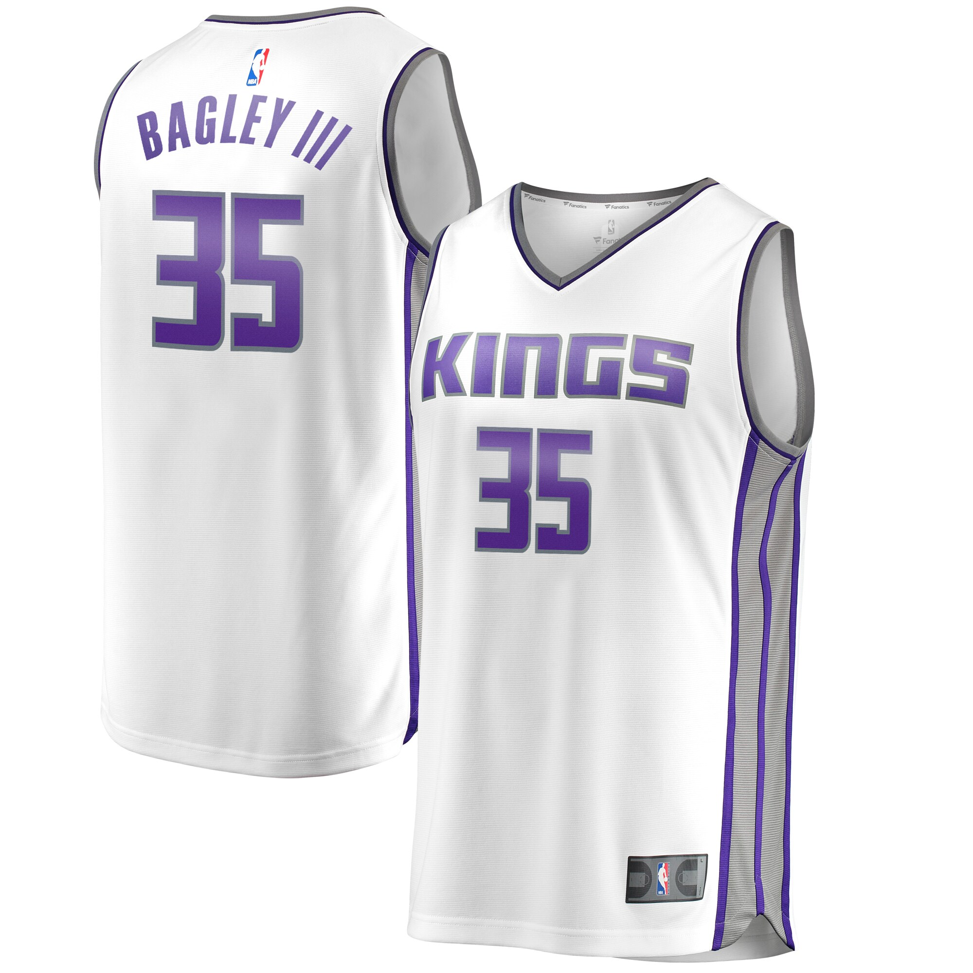 Marvin Bagley III Sacramento Kings Fanatics Branded Fast Break Jersey - Association Edition - White
