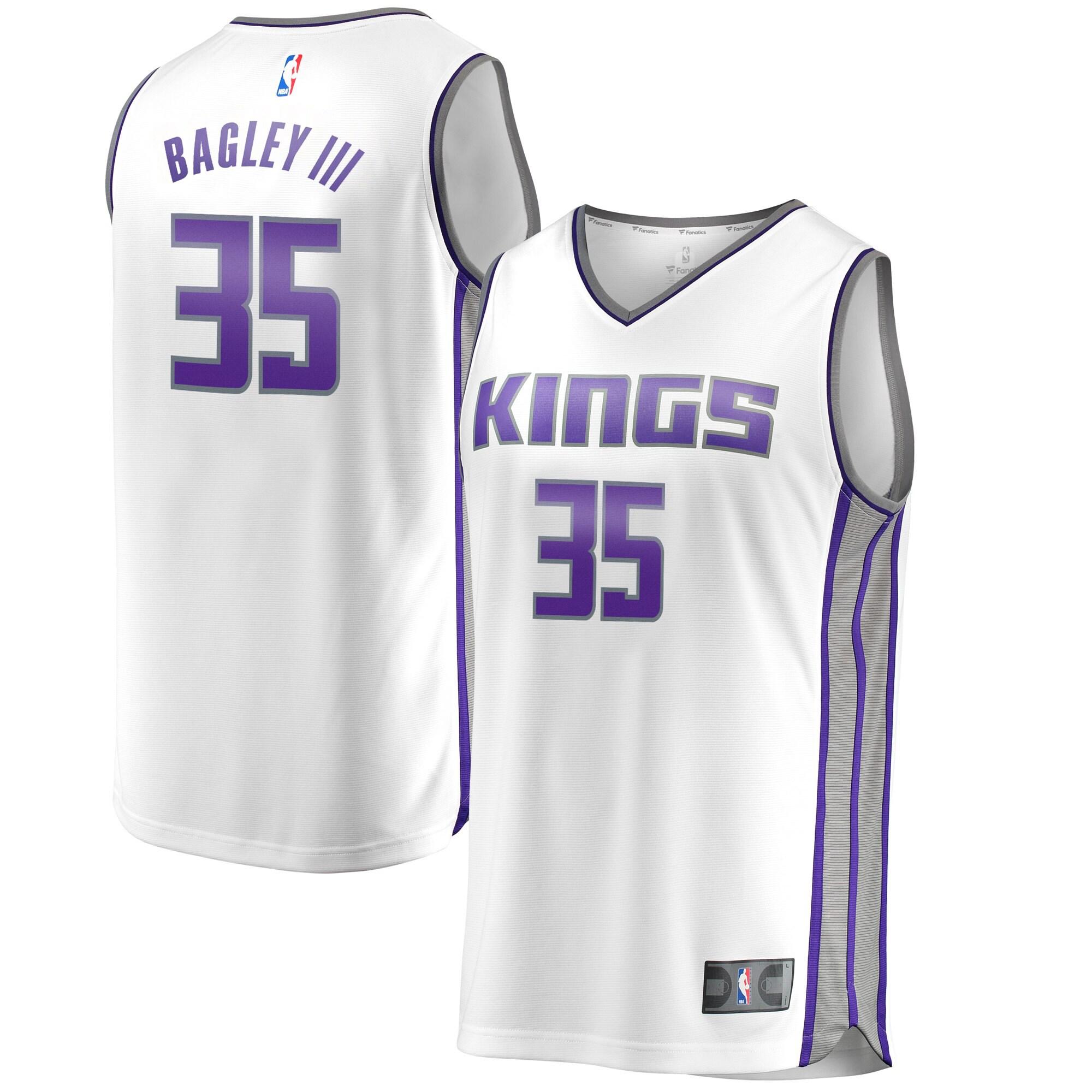 Marvin Bagley III Sacramento Kings Fanatics Branded Fast Break Replica Jersey White - Association Edition